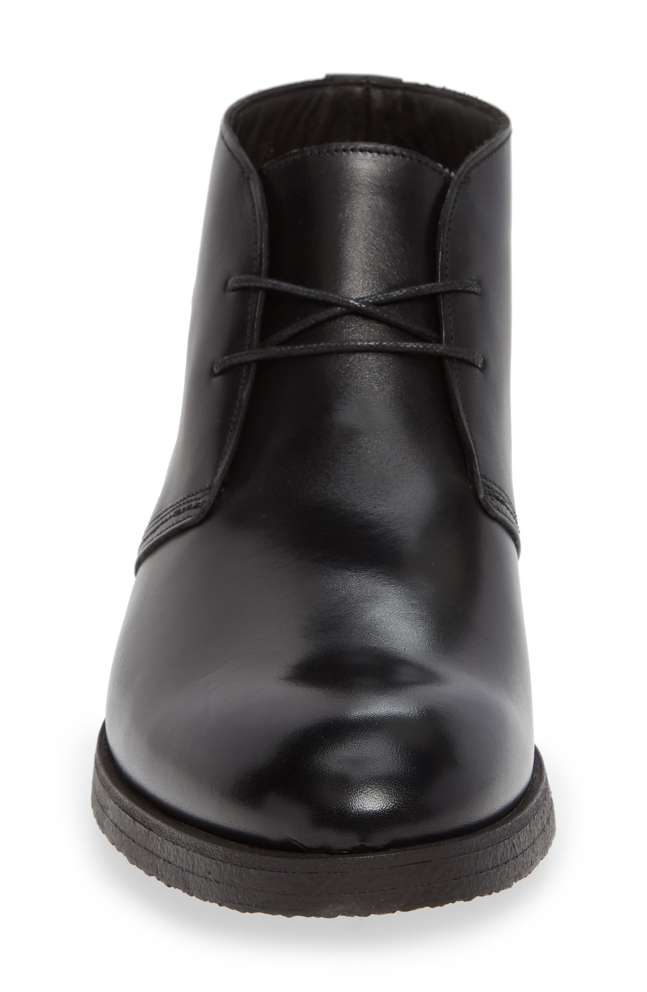 Corvera Chukka Boot,                             Alternate thumbnail 4, color,                             BERRY BLACK LEATHER