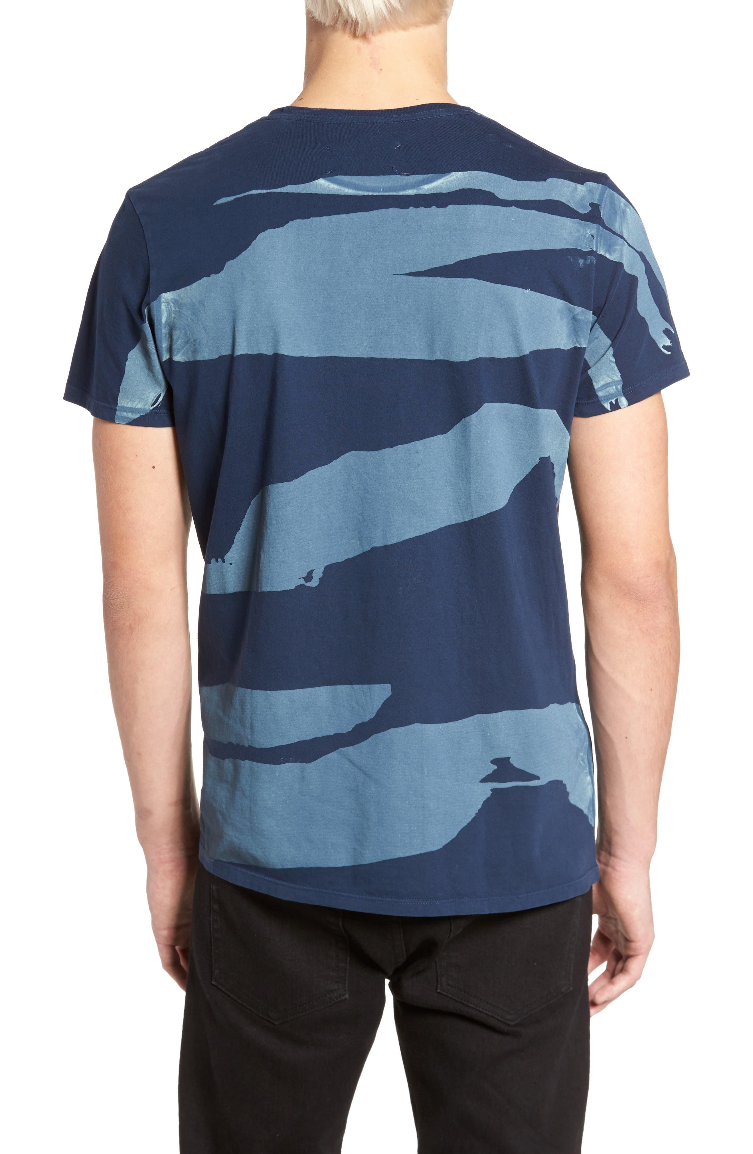 Torn Stripes T-Shirt,                             Alternate thumbnail 2, color,