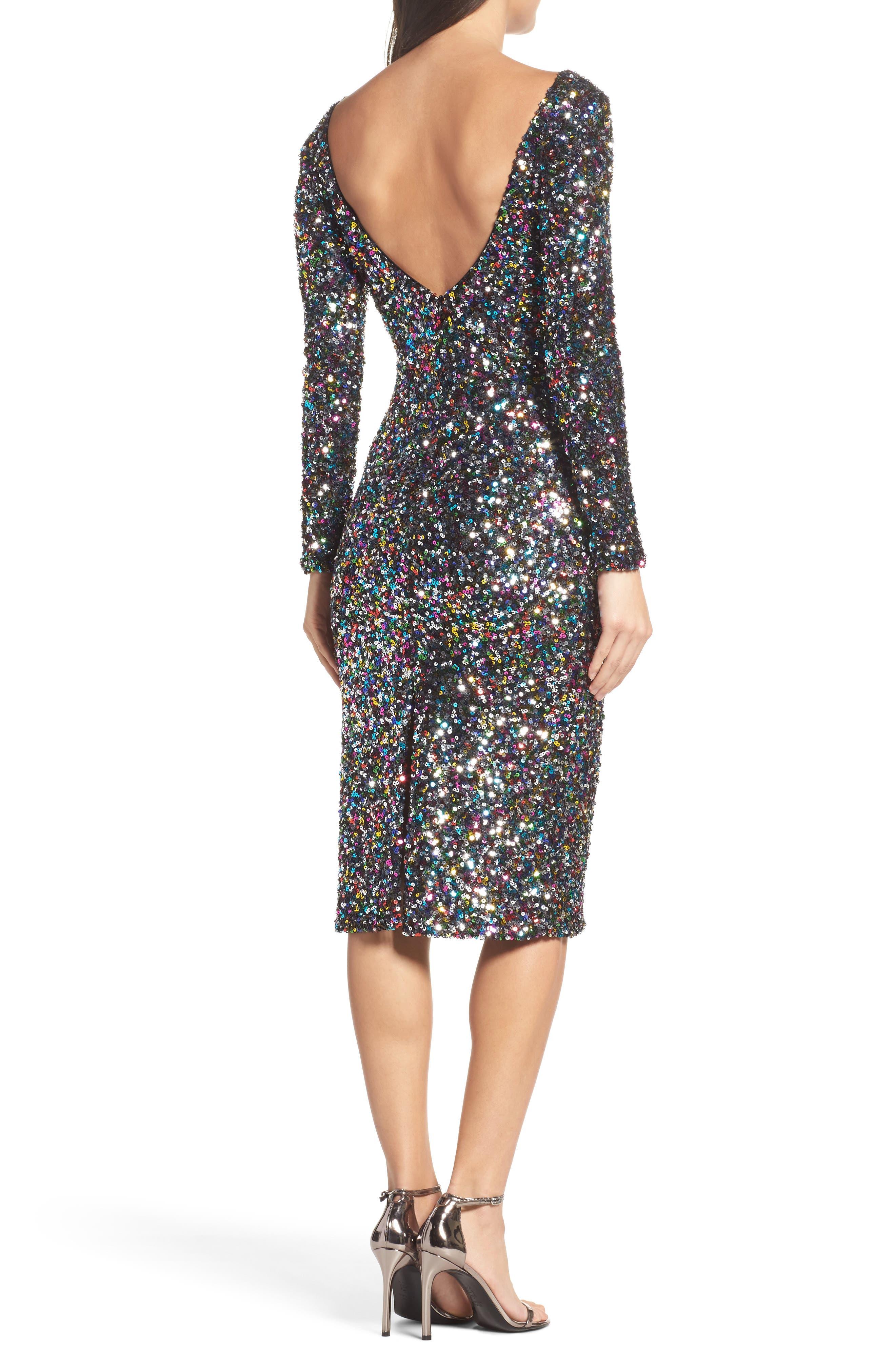 Emery Ombré Sequin Body-Con Dress,                             Alternate thumbnail 8, color,