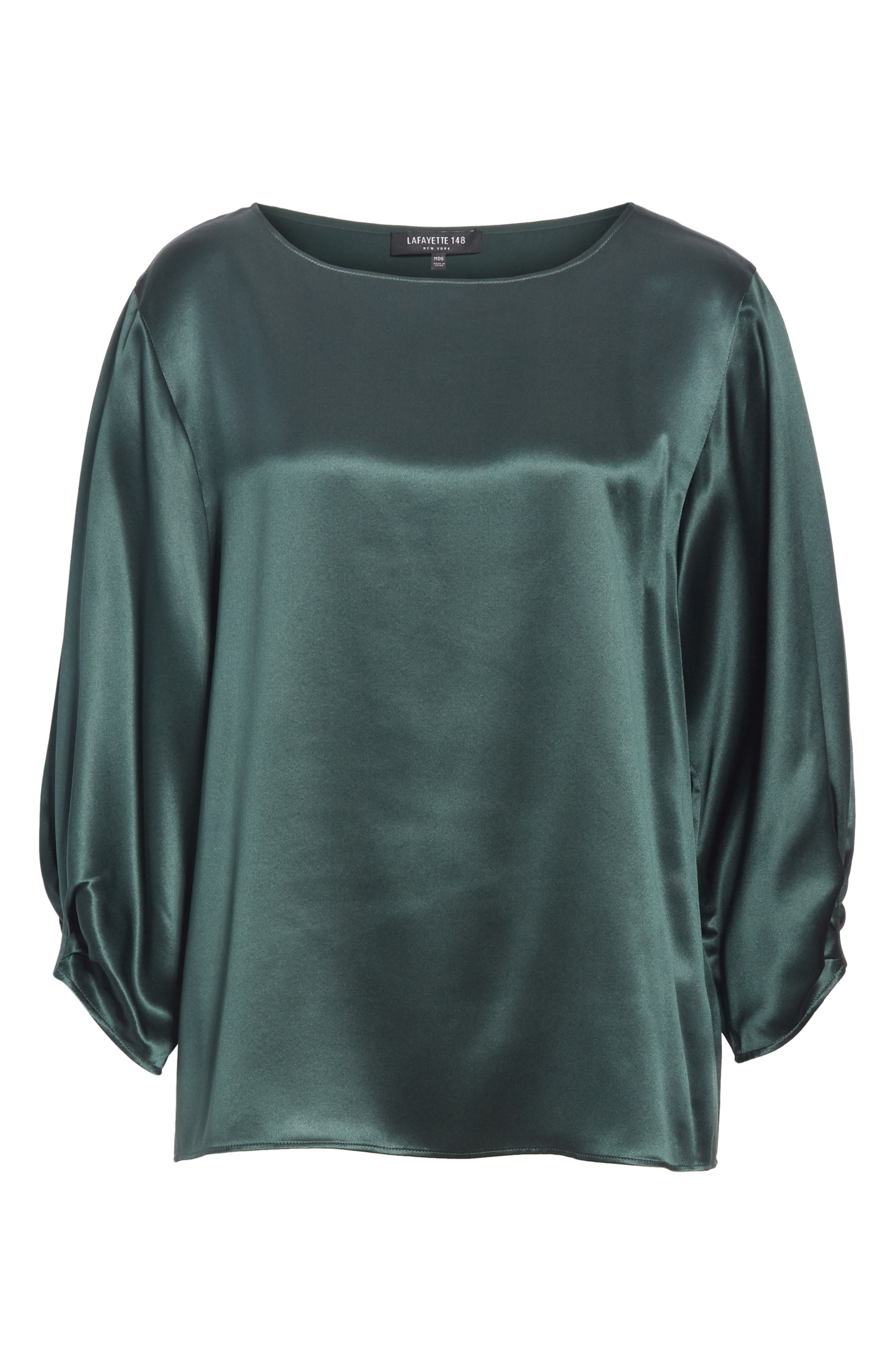 Wynona Silk Charmeuse Blouse,                             Alternate thumbnail 6, color,                             396