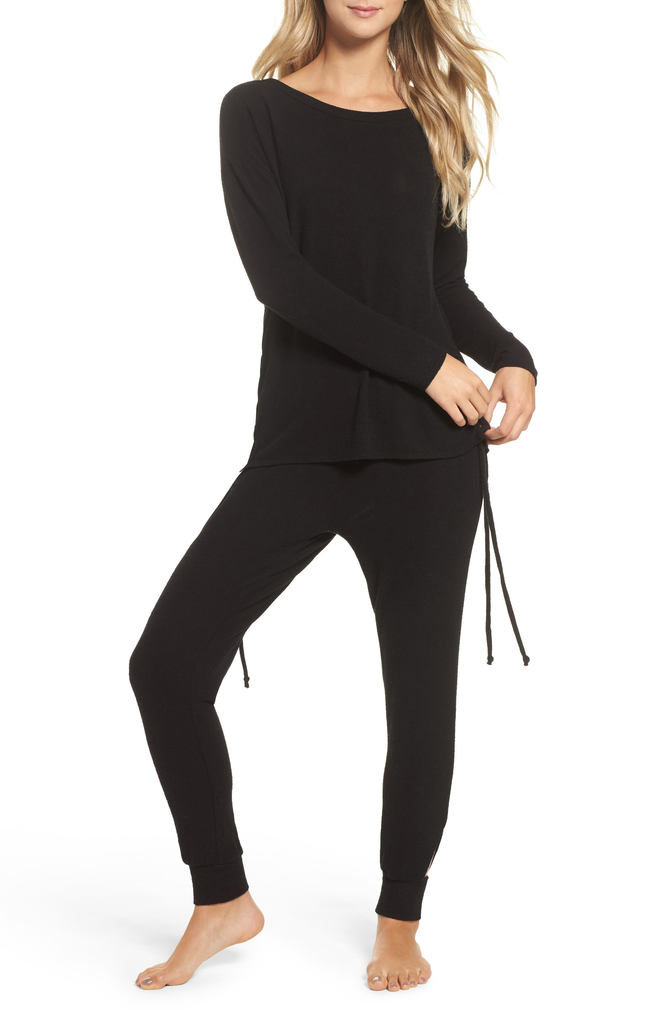 Lace-Up Side Pullover,                             Alternate thumbnail 7, color,                             003