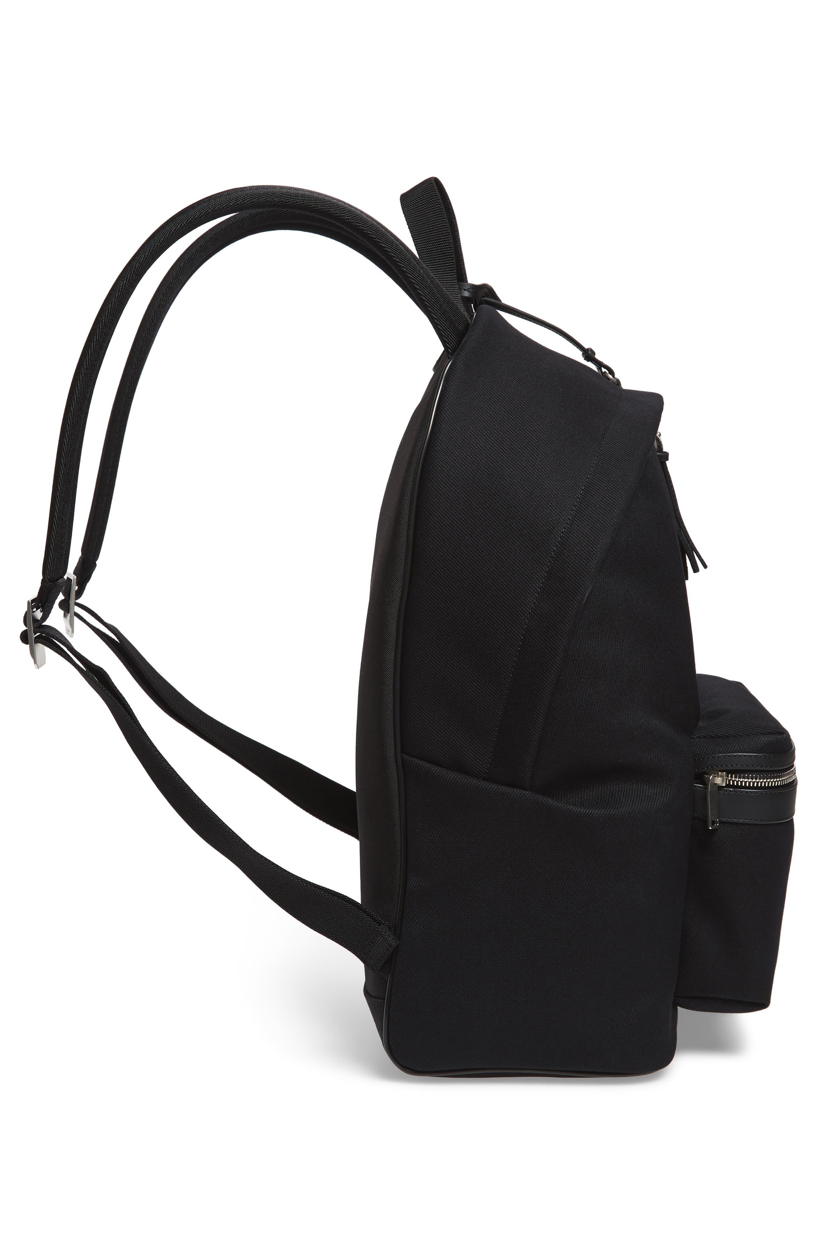 City Canvas Backpack,                             Alternate thumbnail 5, color,                             BLACK