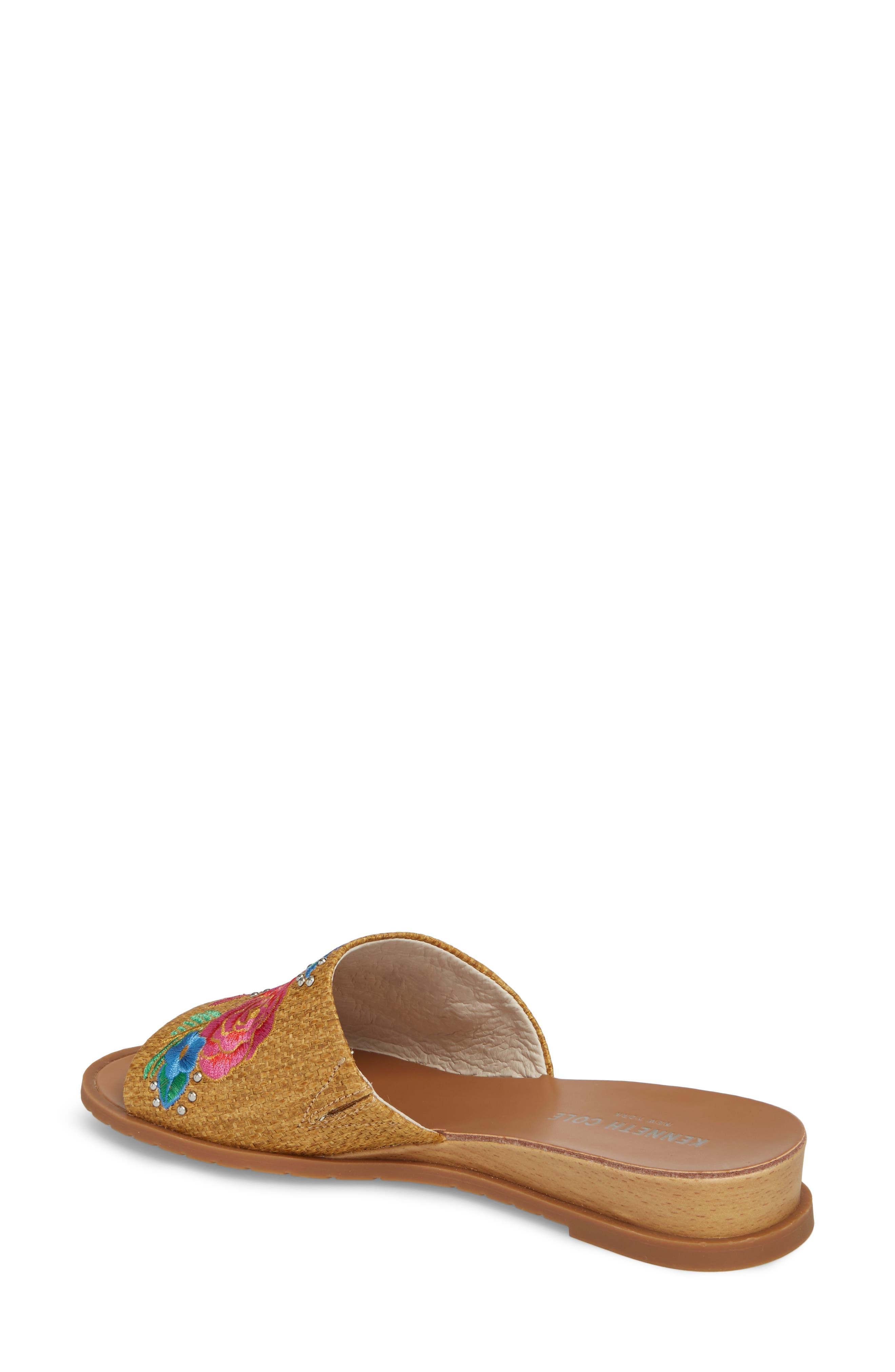 Joanne Flower Embroidered Slide Sandal,                             Alternate thumbnail 8, color,