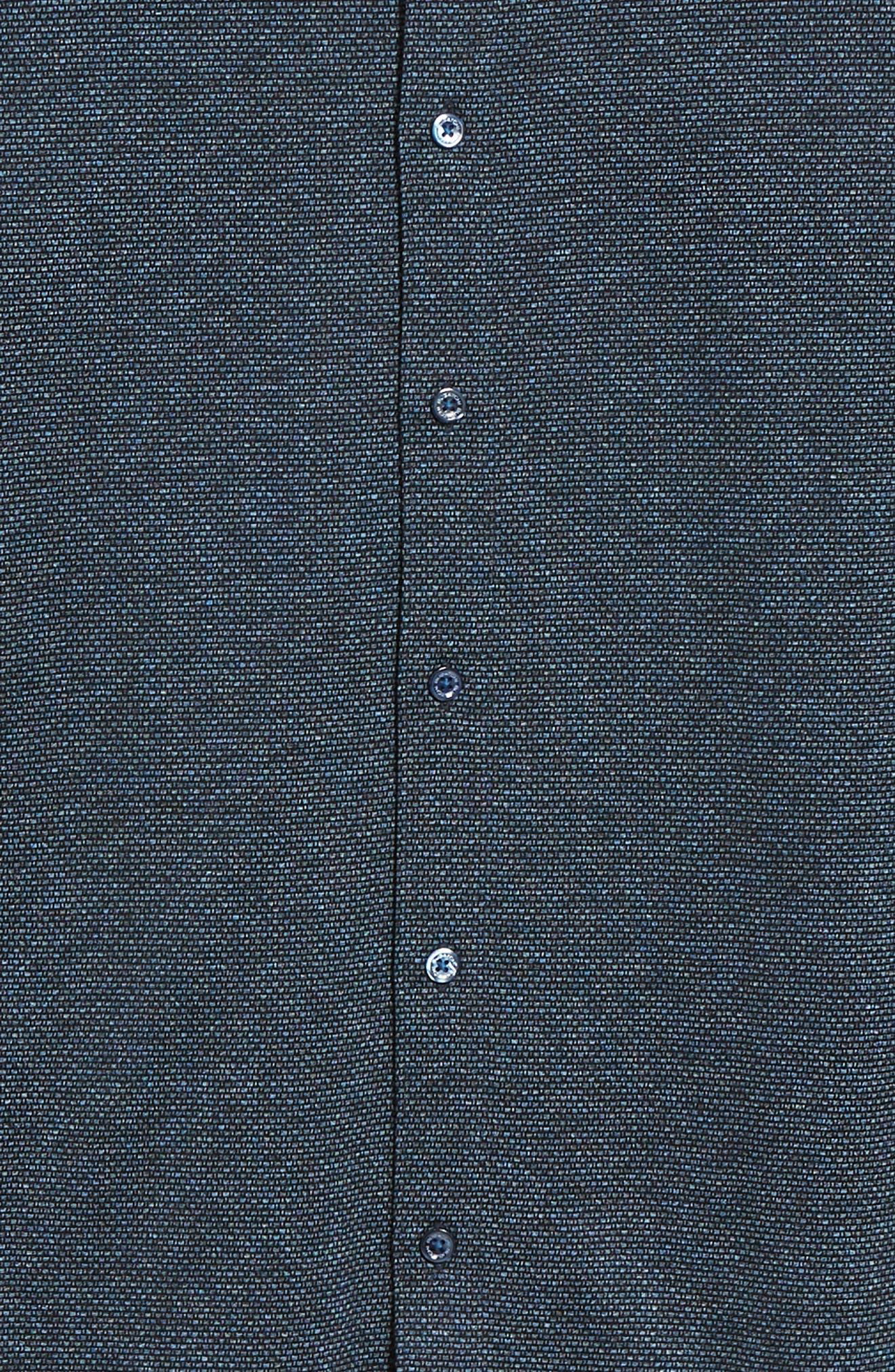 Shaped Fit Knit Sport Shirt,                             Alternate thumbnail 6, color,                             CHARCOAL