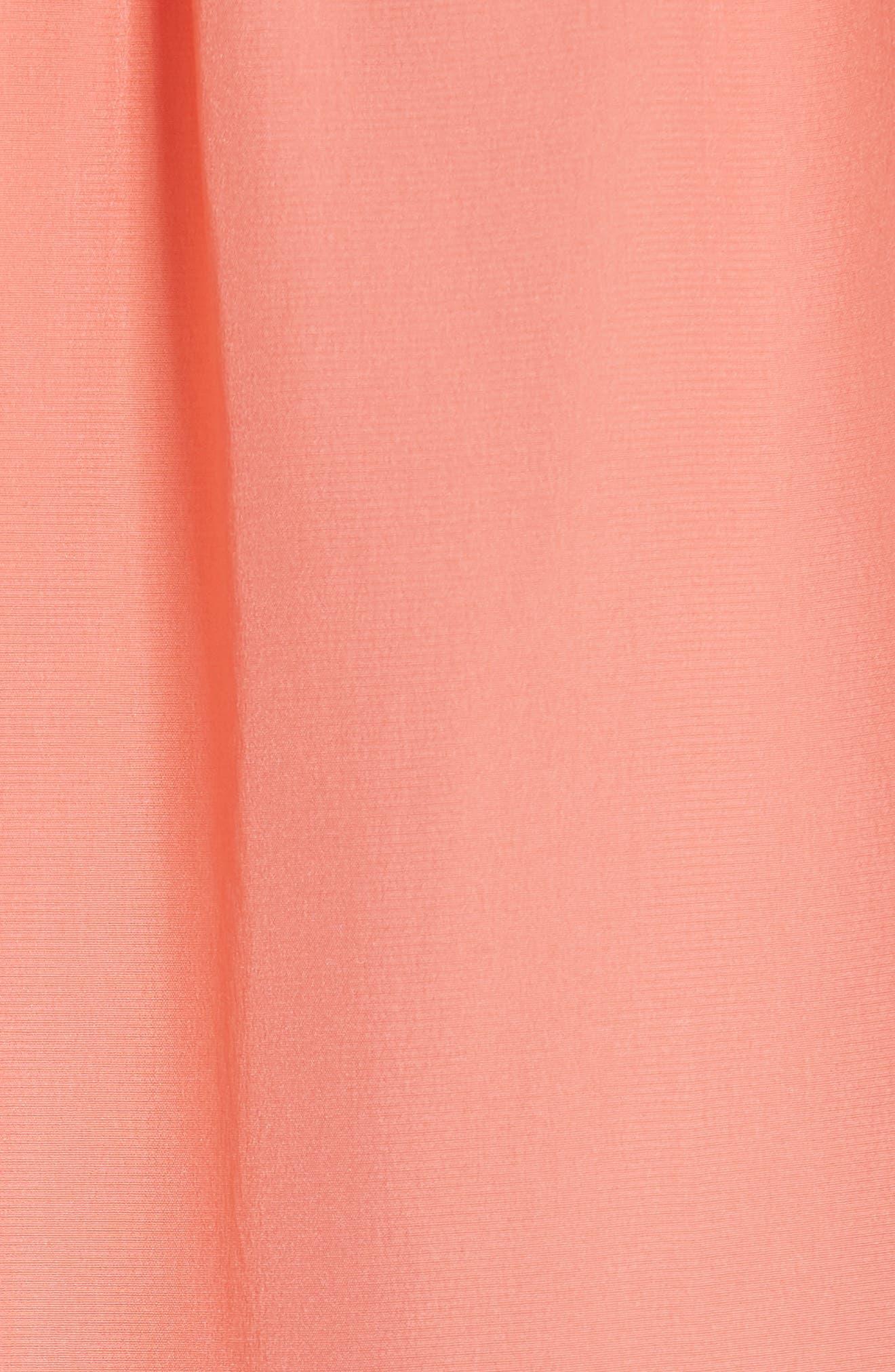 ruffle sleeve silk top,                             Alternate thumbnail 5, color,                             APRICOT SORBET