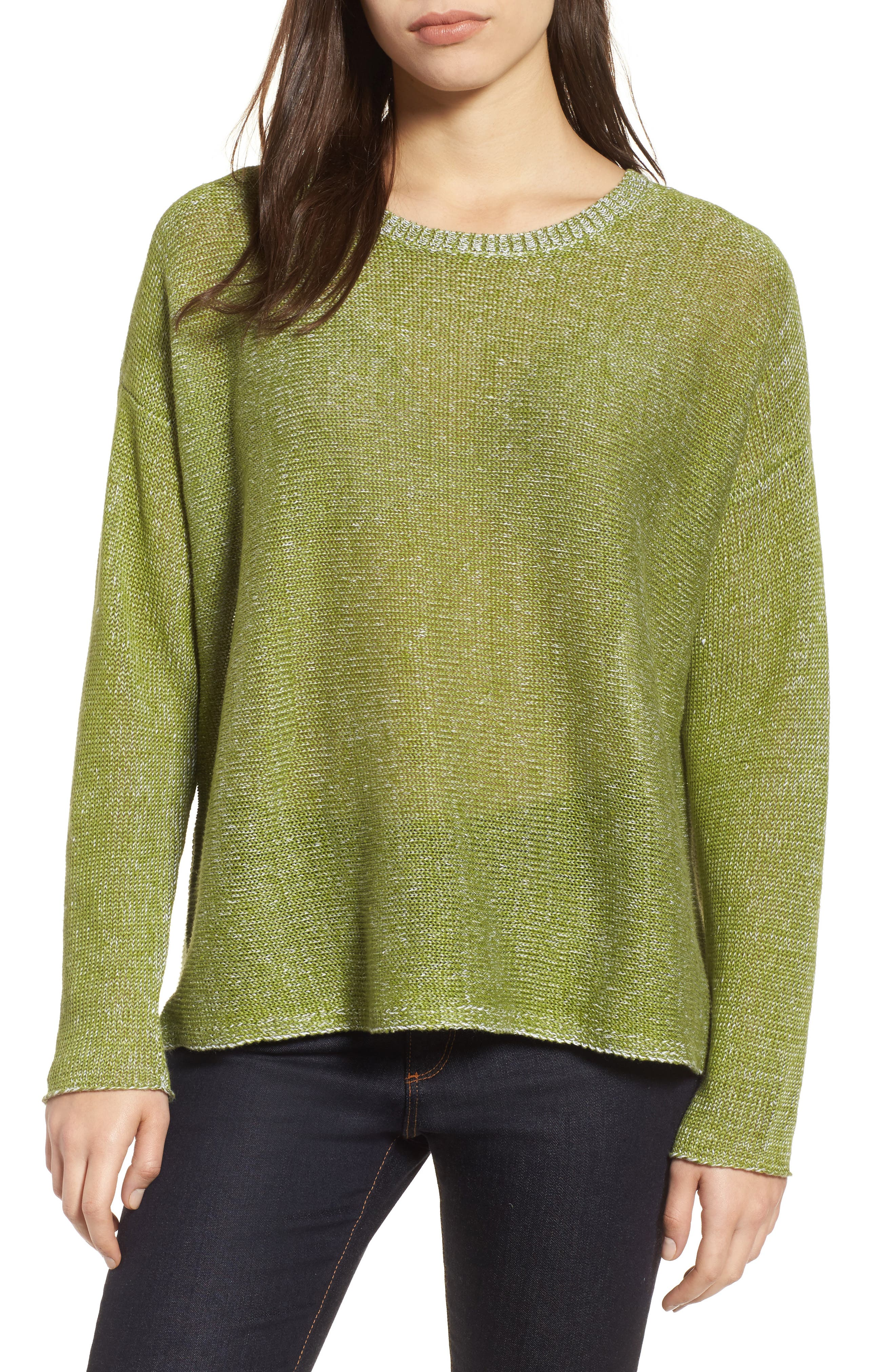 Boxy Organic Linen Sweater,                         Main,                         color, 308