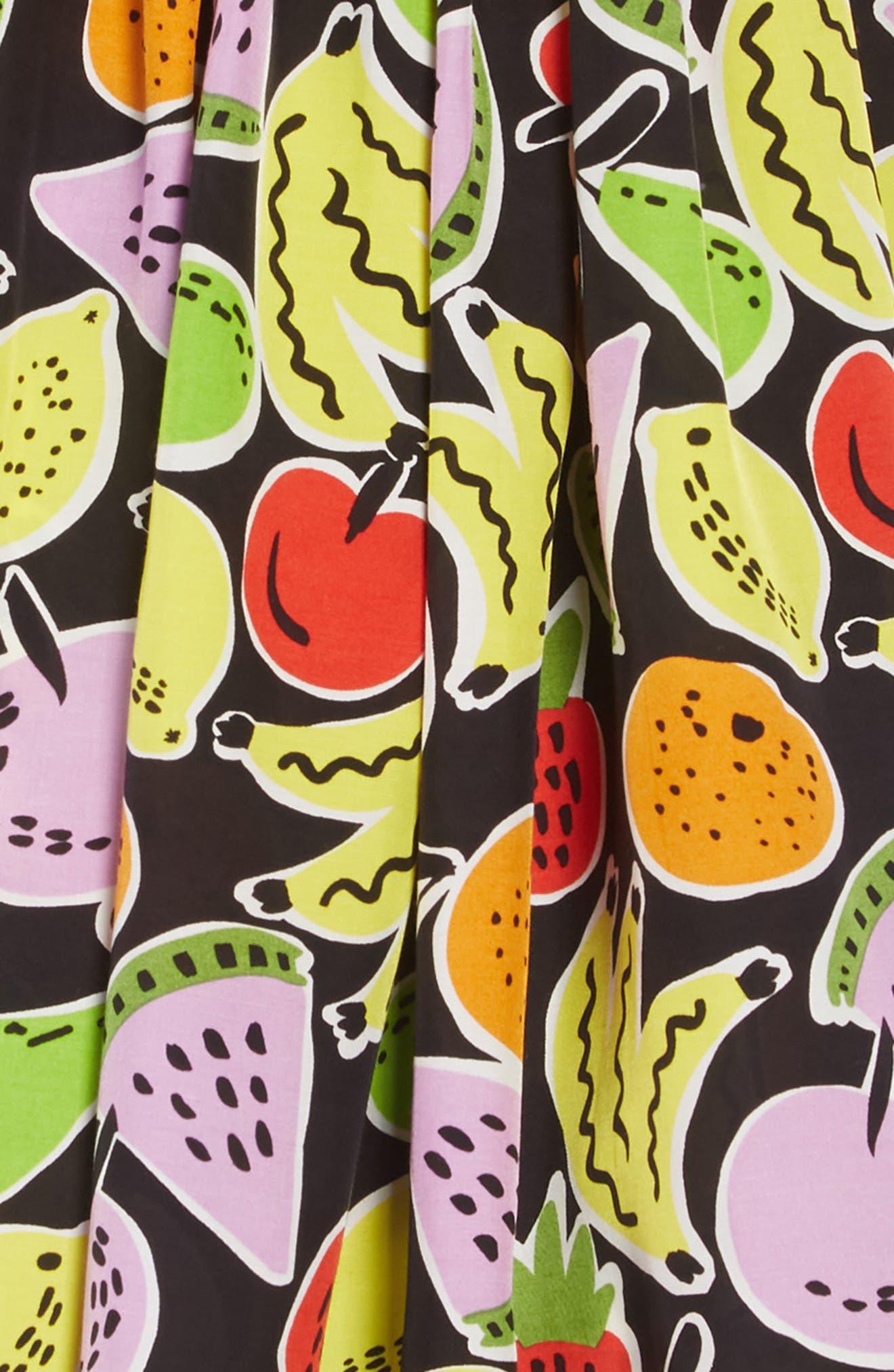 Stella McCartney Fruit Print Sundress,                             Alternate thumbnail 3, color,                             1090 BLACK