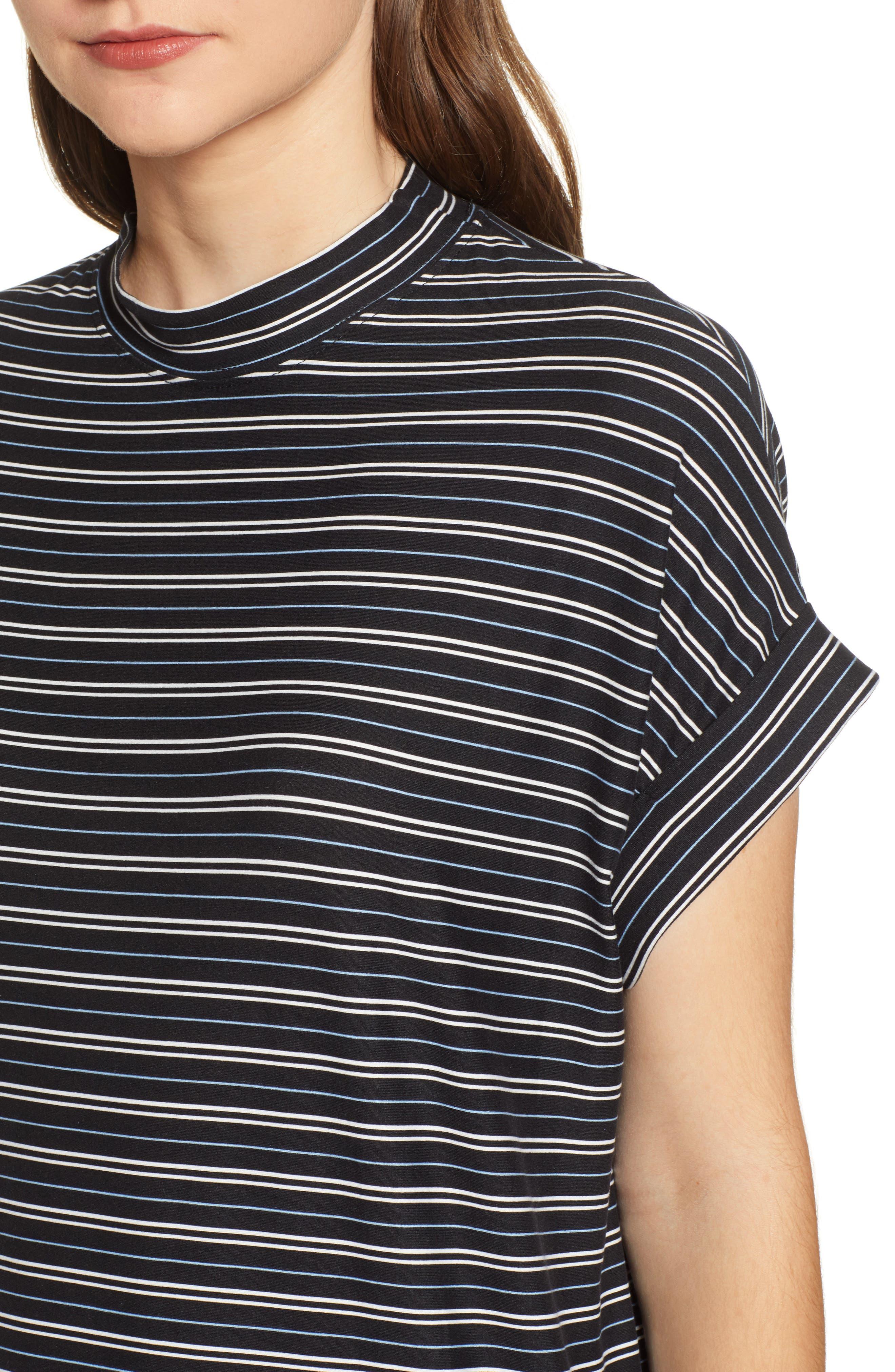 Stripe Sneaker Dress,                             Alternate thumbnail 4, color,                             001