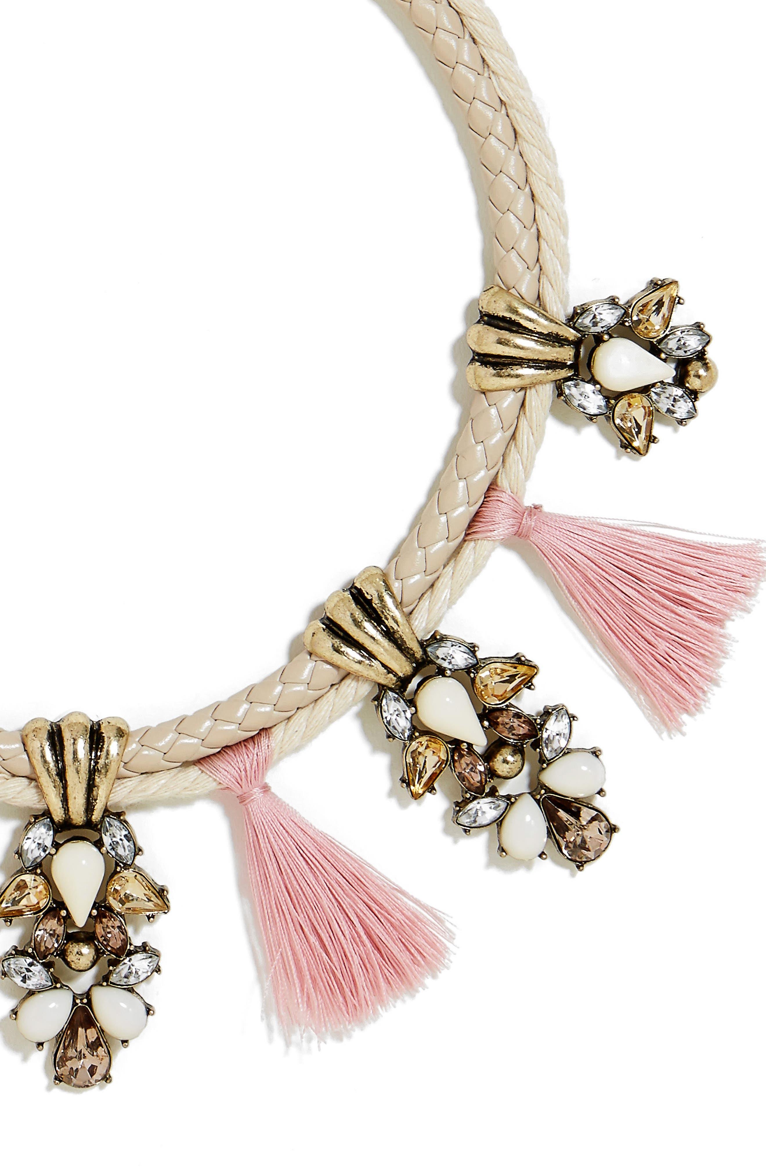 Repunzel Collar Necklace,                             Alternate thumbnail 3, color,                             650