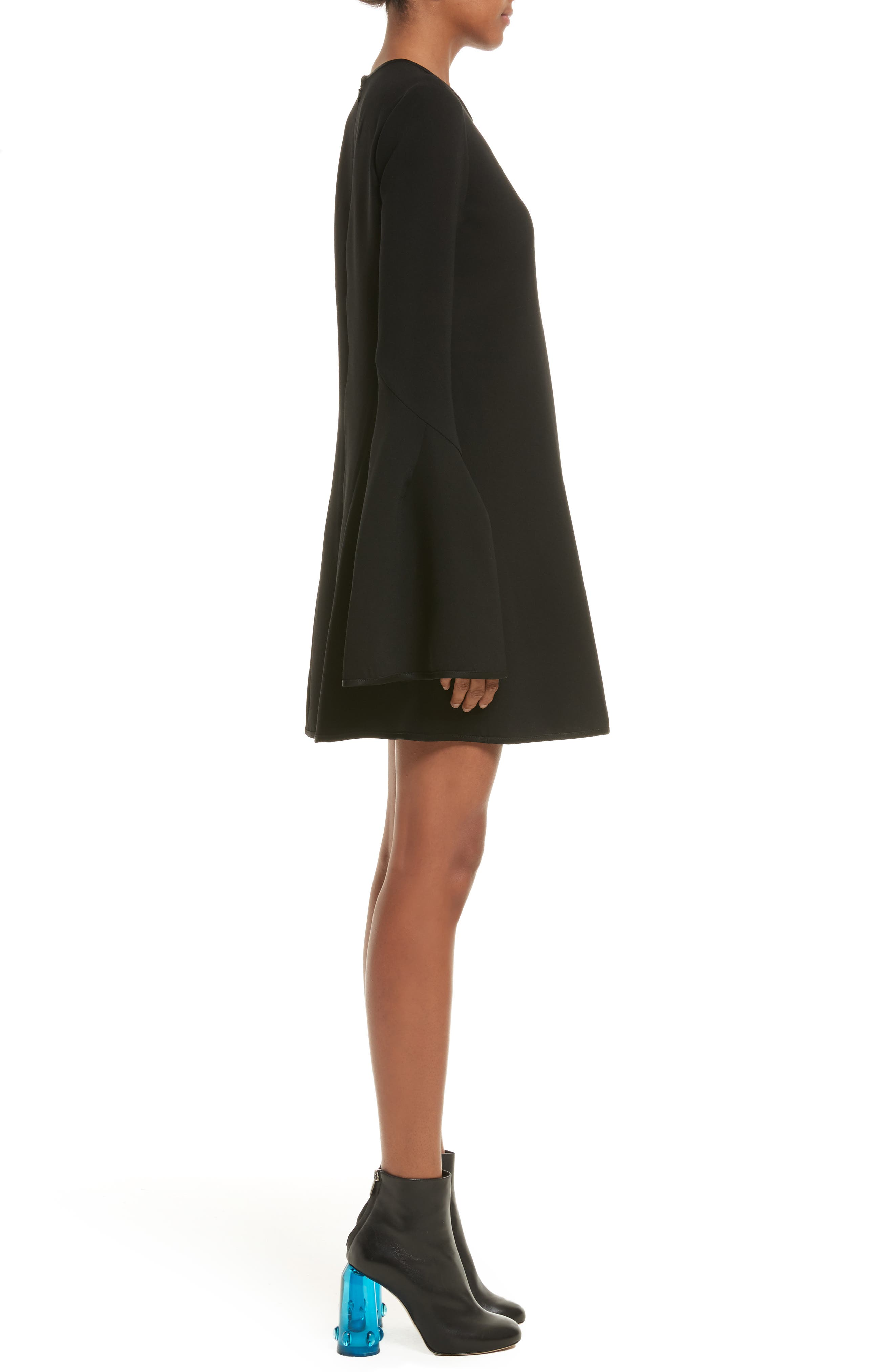 Preacher Satin Crepe Dress,                             Alternate thumbnail 3, color,