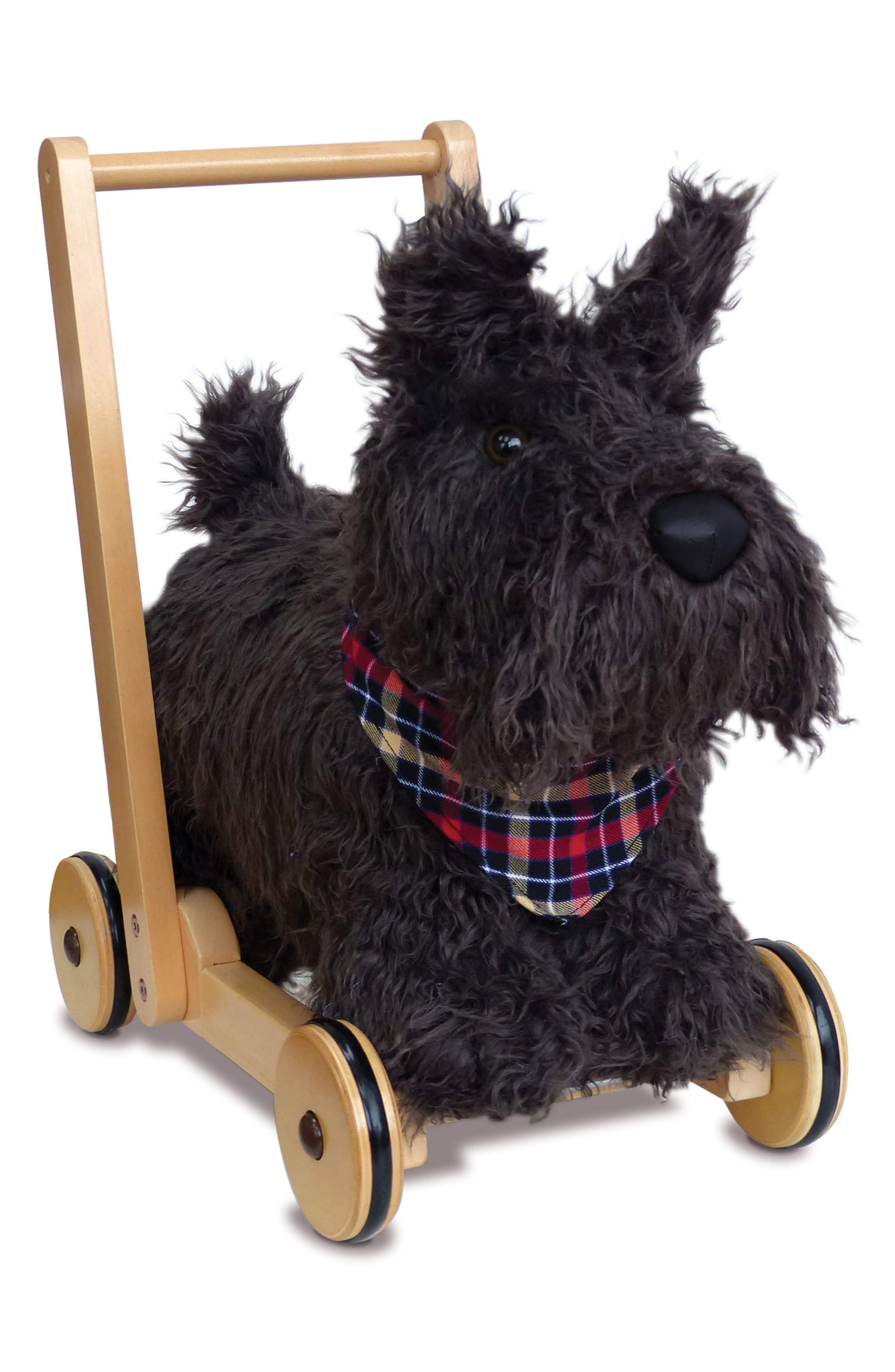 Scottie Push Along Dog,                         Main,                         color, 001