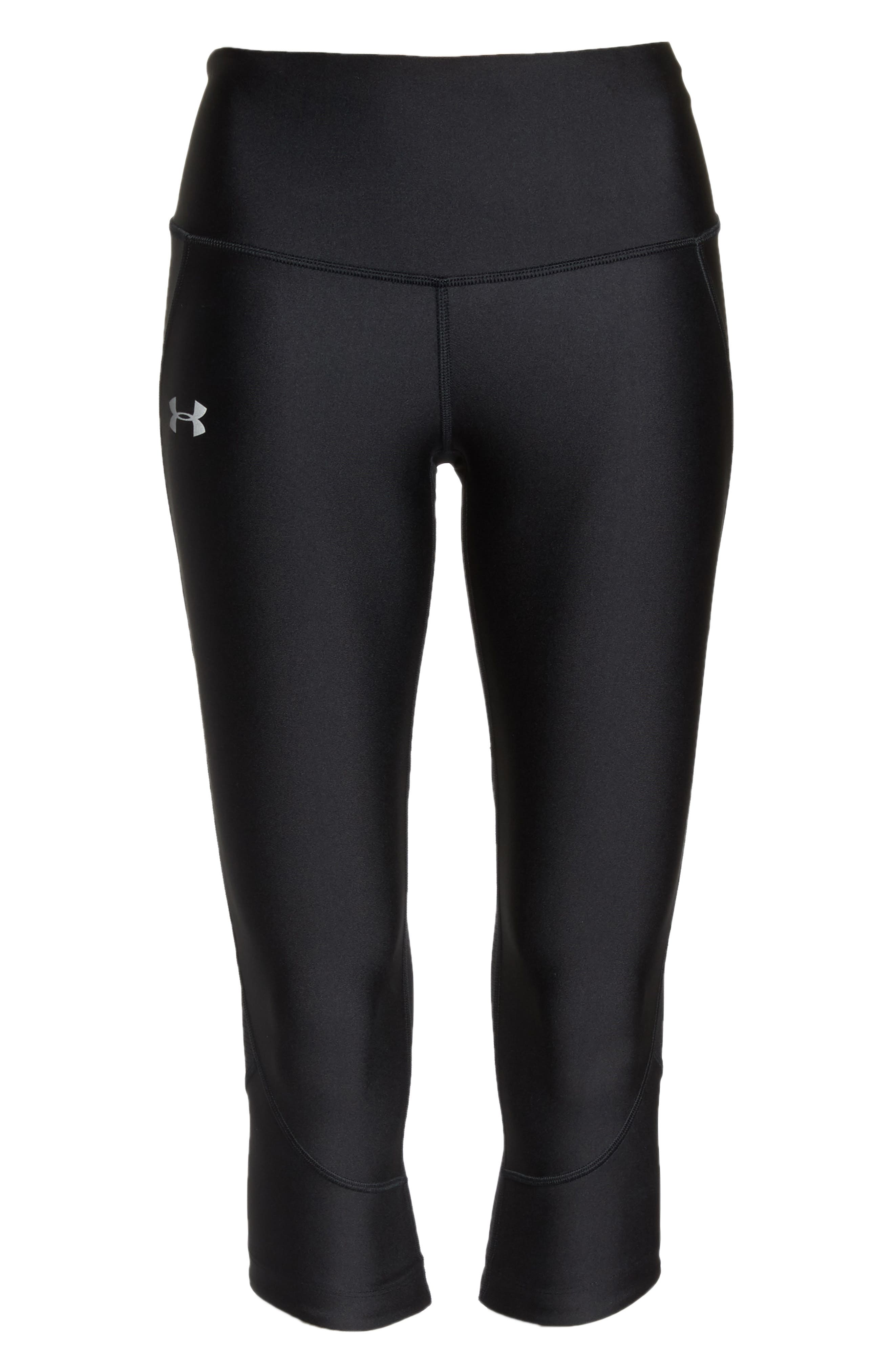 Fly Fast HeatGear<sup>®</sup> Capri Leggings,                             Alternate thumbnail 6, color,                             001