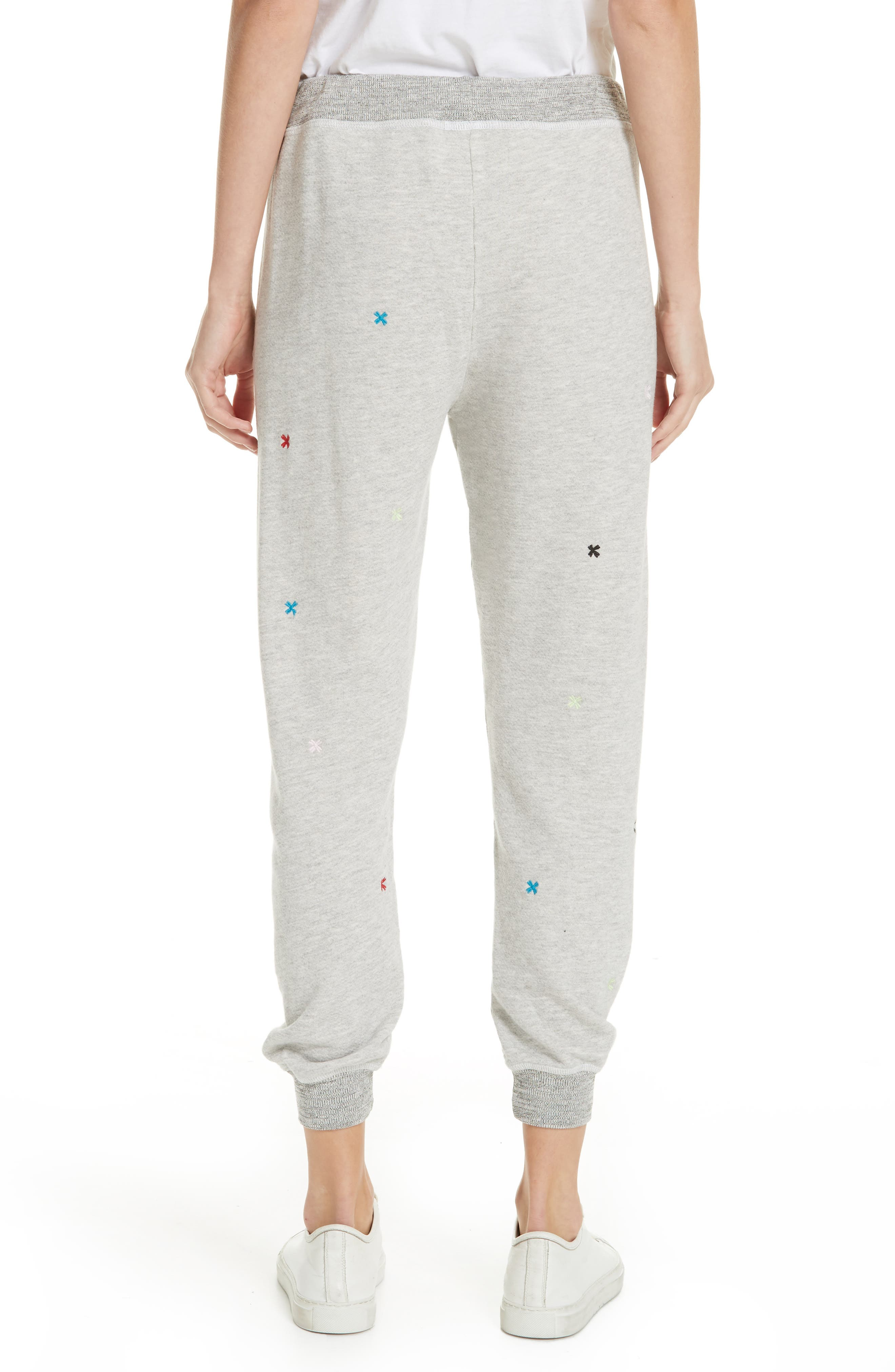 The Cropped Sweatpants,                             Alternate thumbnail 2, color,                             HEATHER GREY/ MULTI