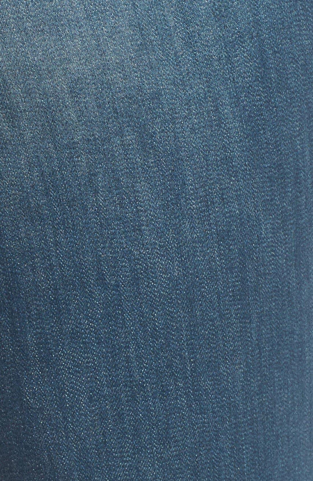 Treasure&Bond High Rise Skinny Flare Jeans,                             Alternate thumbnail 3, color,                             400