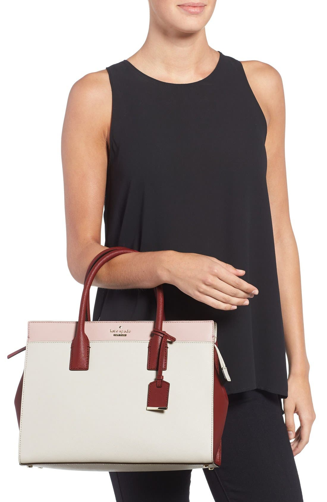 cameron street - candace leather satchel,                             Alternate thumbnail 41, color,