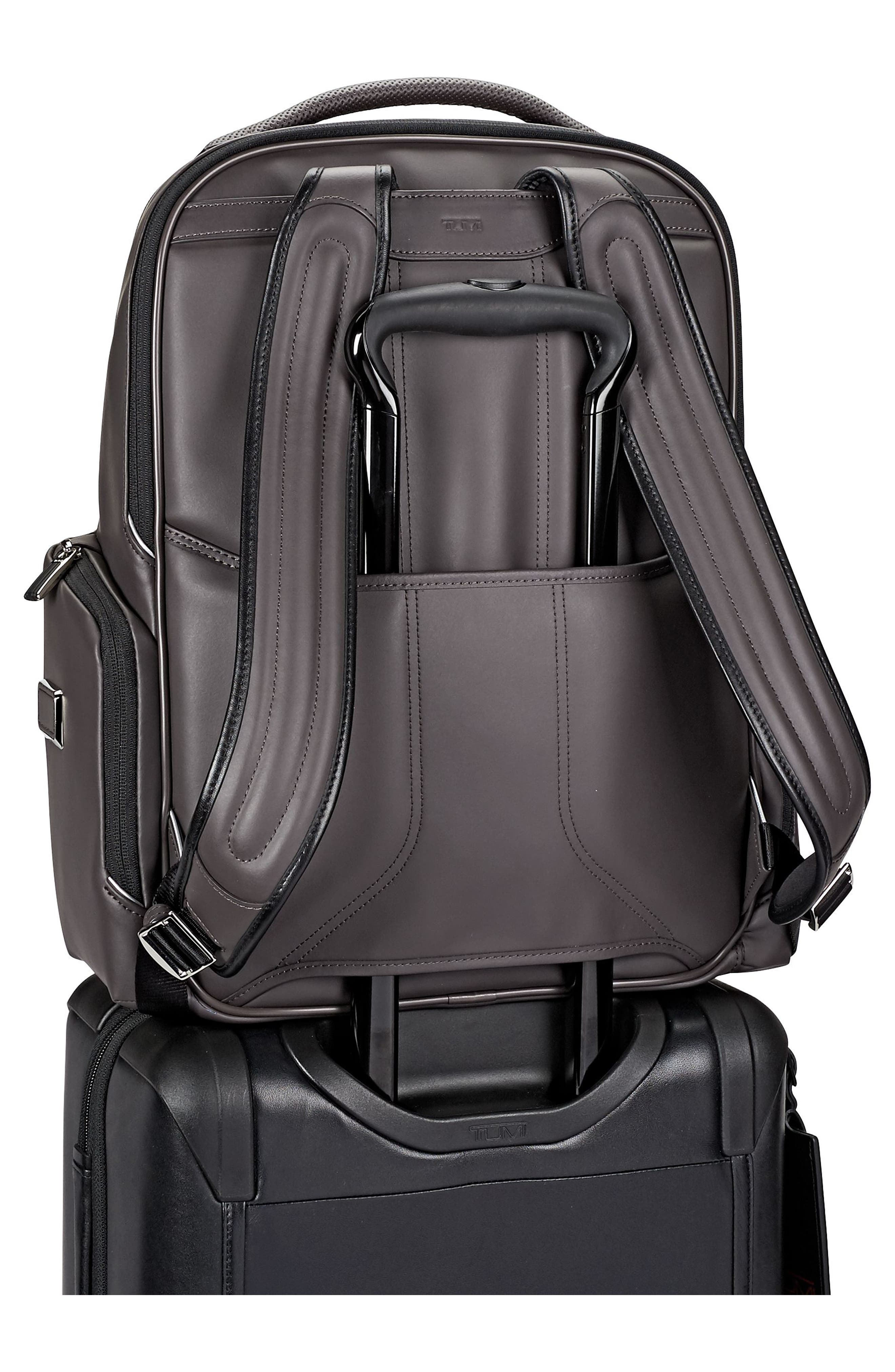 Arrivé - Bradley Leather Backpack,                             Alternate thumbnail 5, color,                             020