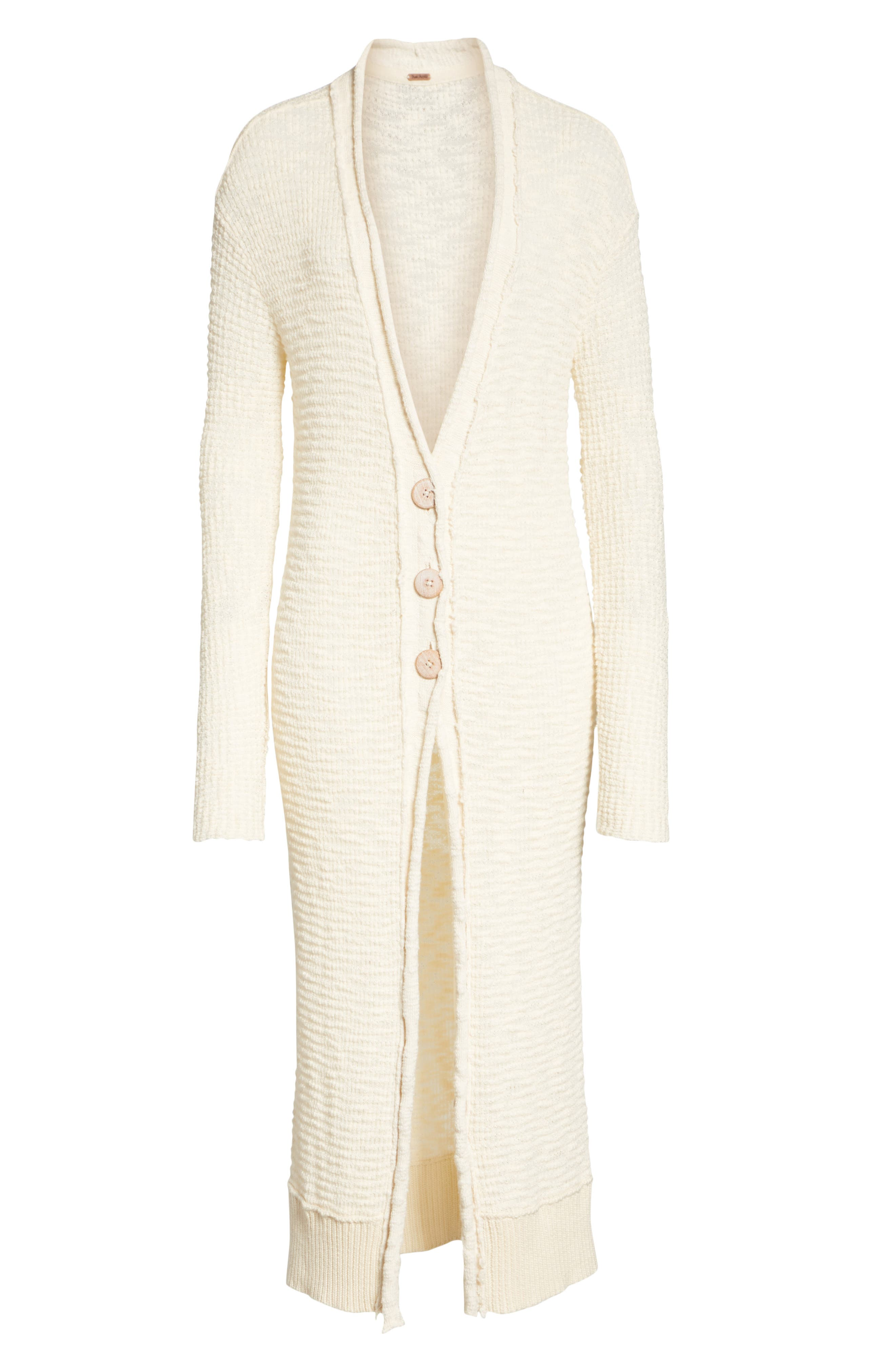 Clearwater Long Cardigan,                             Alternate thumbnail 6, color,                             IVORY