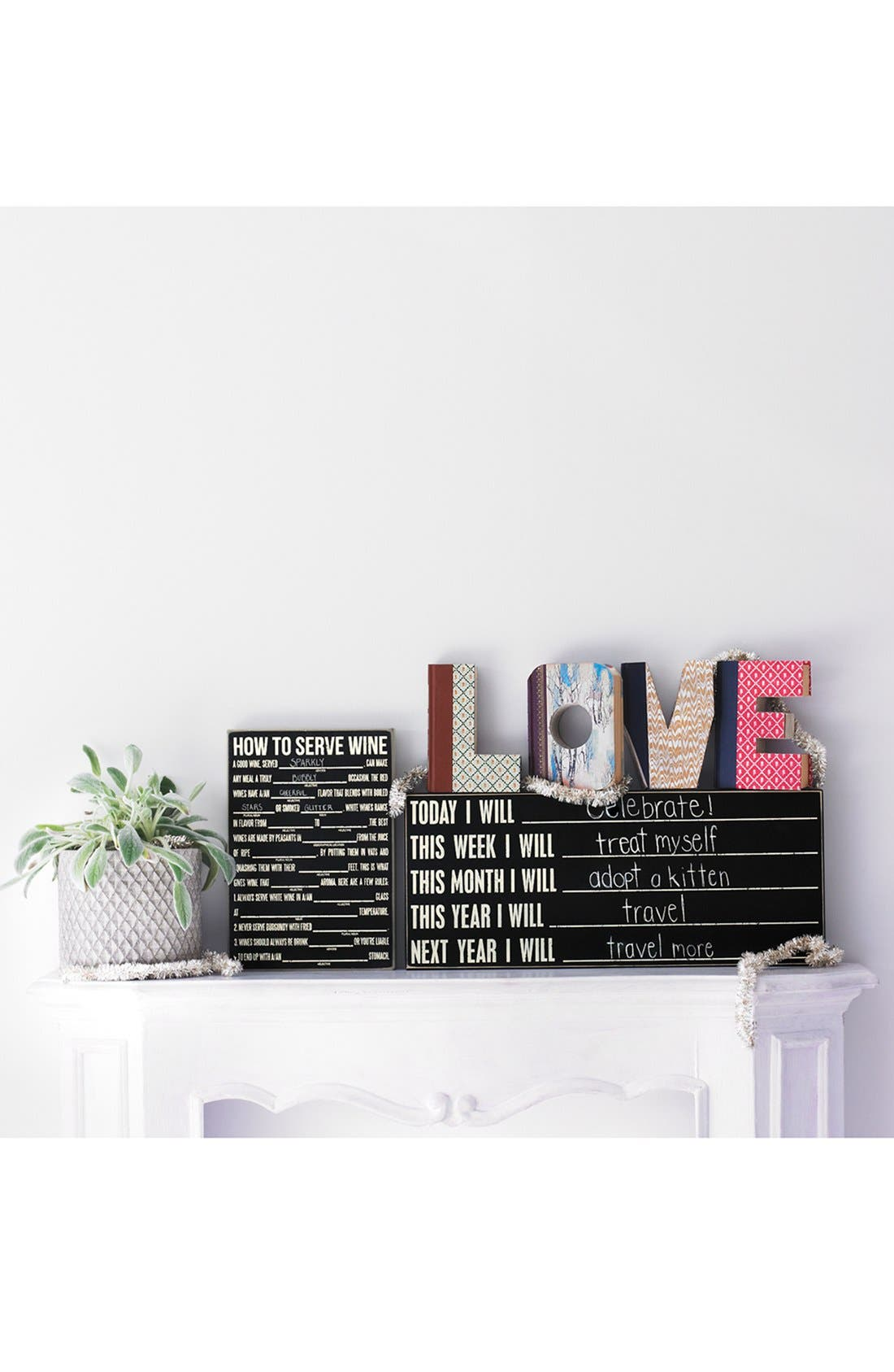 'Love - One of a Kind' Hand-Carved Recycled Book Shelf Art,                             Alternate thumbnail 2, color,                             200