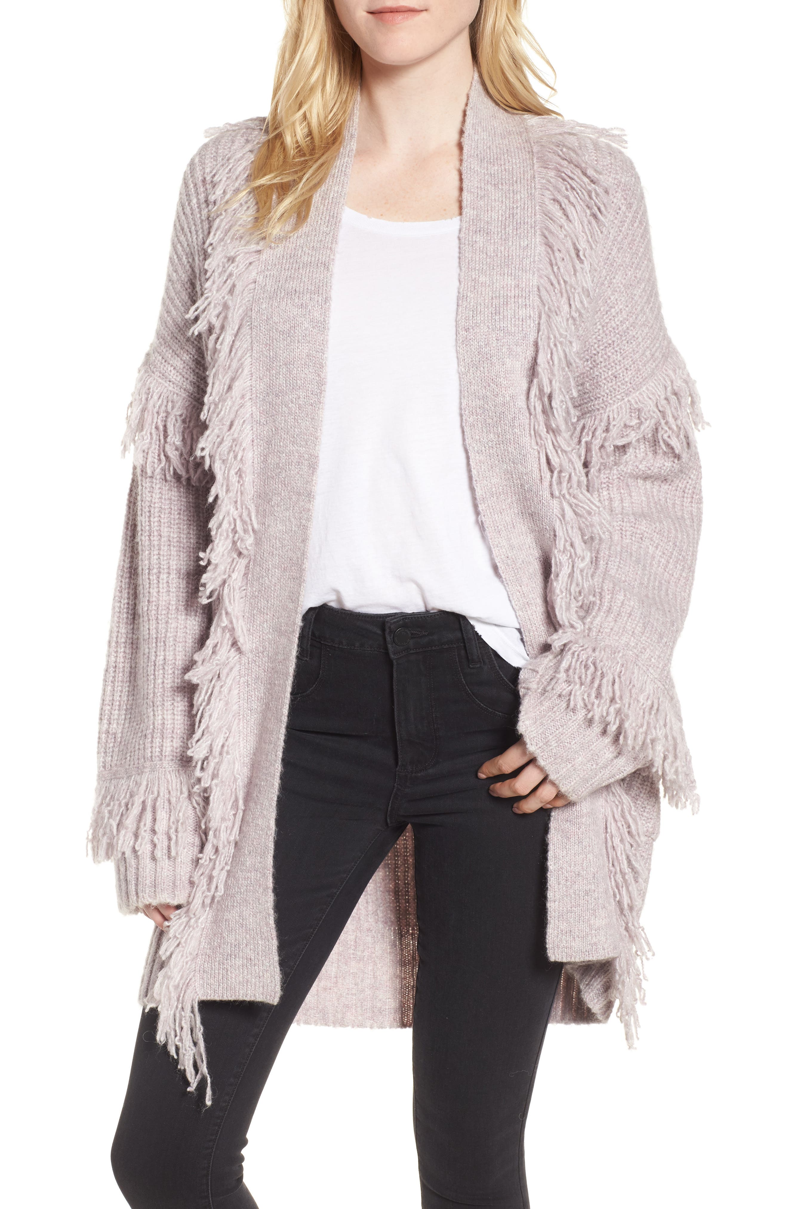 Berea Fringe Cardigan Sweater,                         Main,                         color, 684