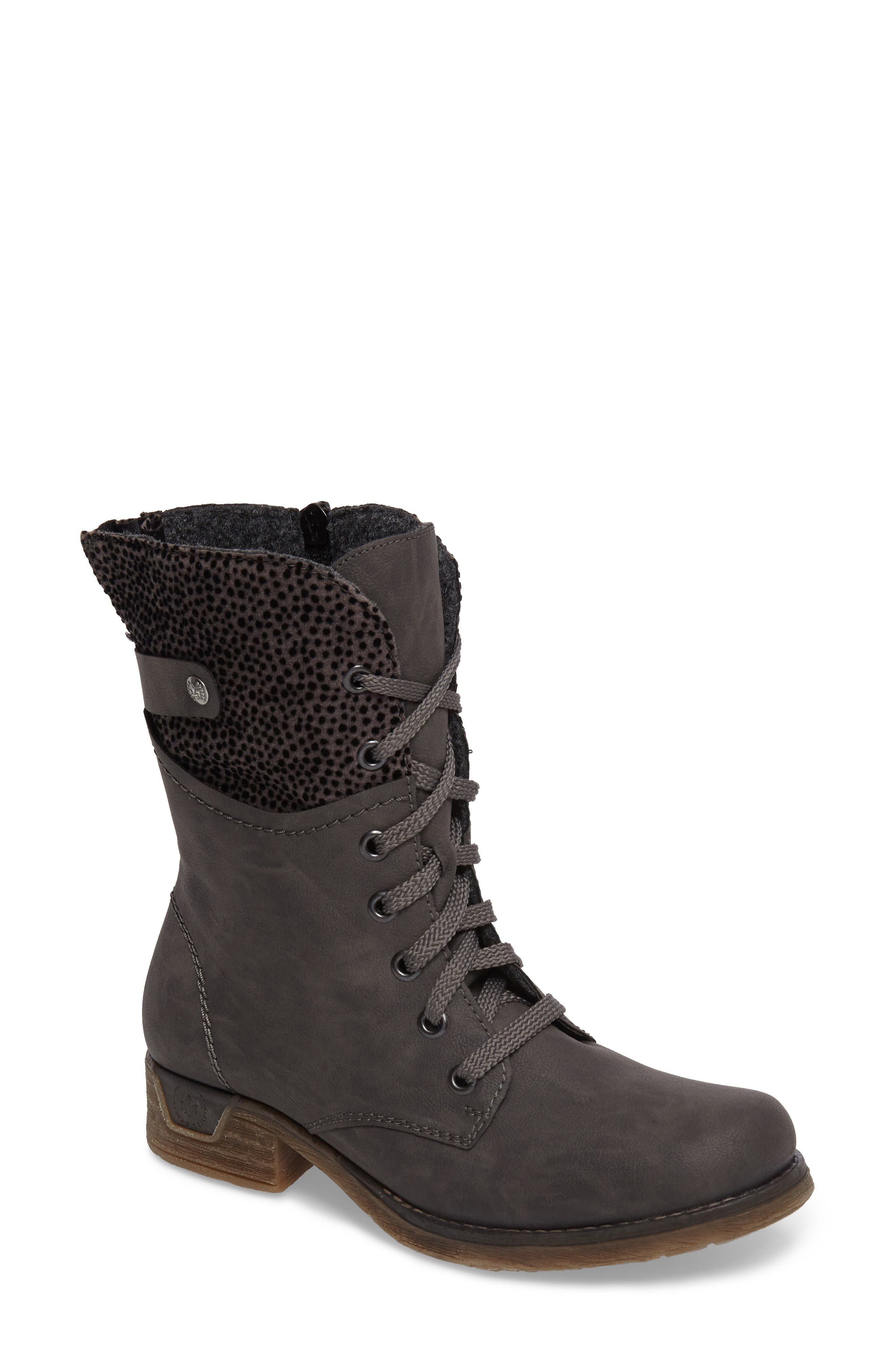 'Fee 04' Lace-Up Boot,                         Main,                         color, FUMO FAUX LEATHER