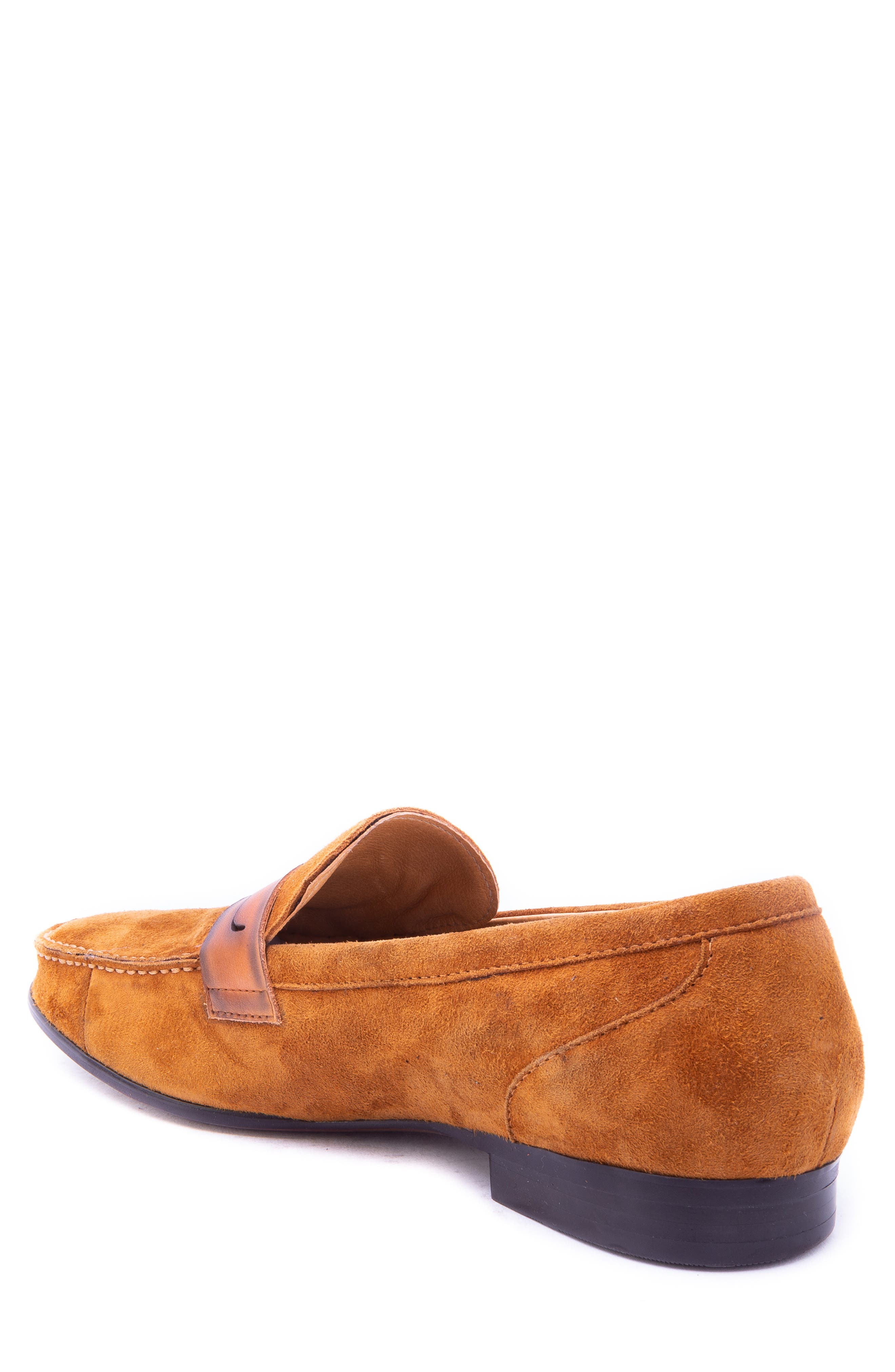 Opie Penny Loafer,                             Alternate thumbnail 2, color,                             COGNAC SUEDE/ LEATHER