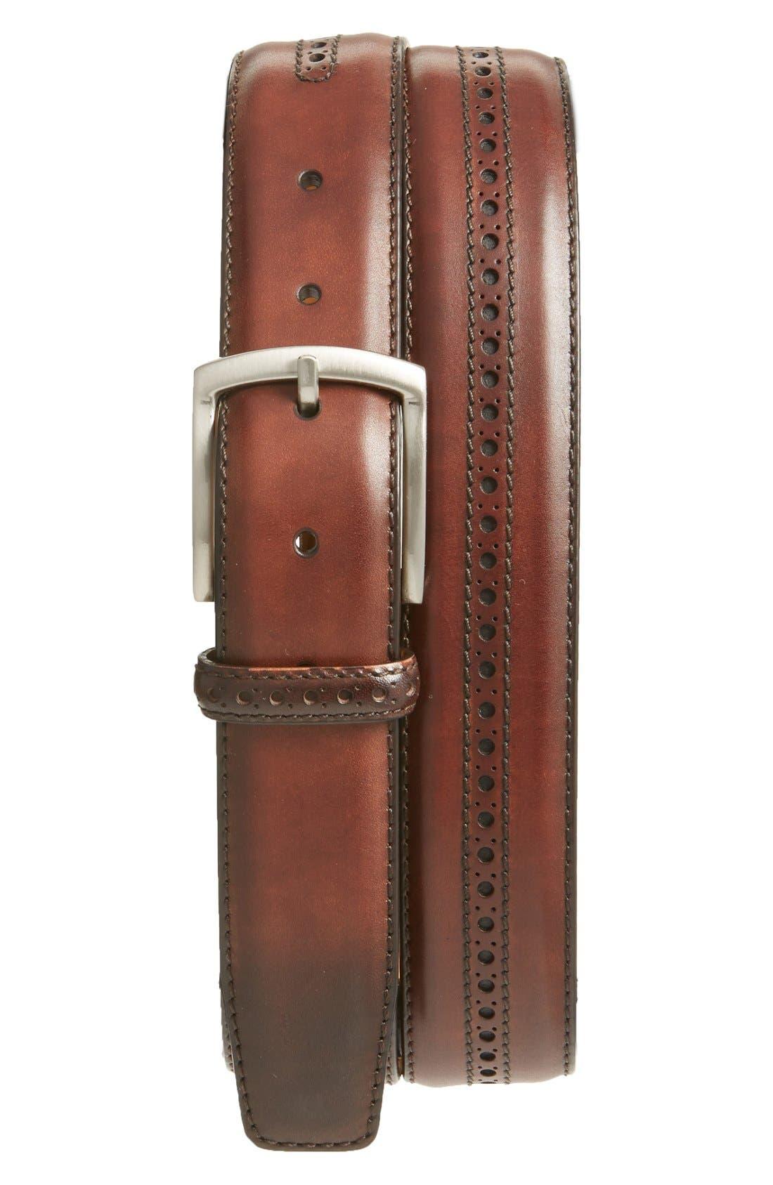 'Guodi' Leather Belt,                         Main,                         color, 210