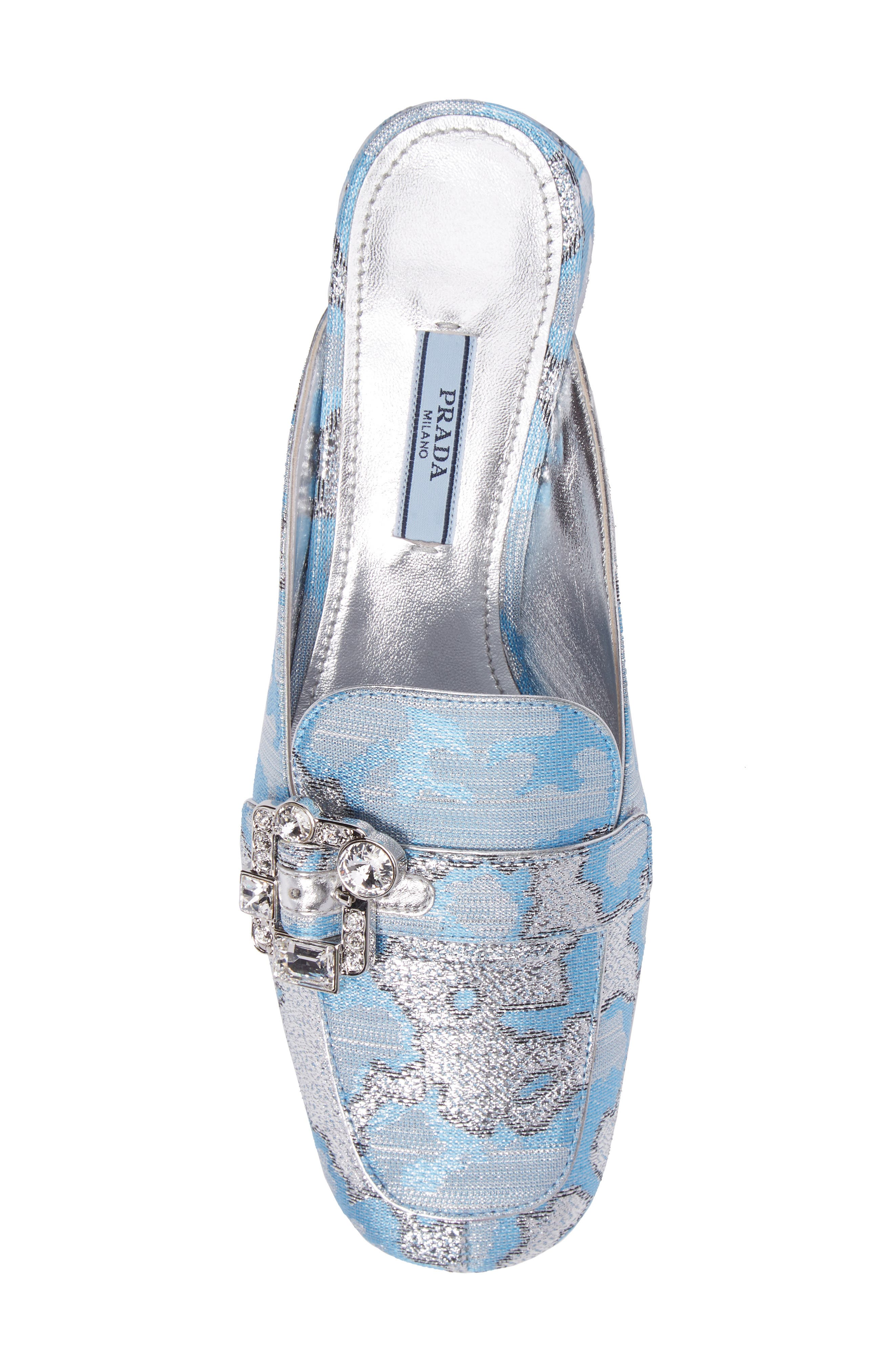 Crystal Buckle Loafer Mule,                             Alternate thumbnail 5, color,