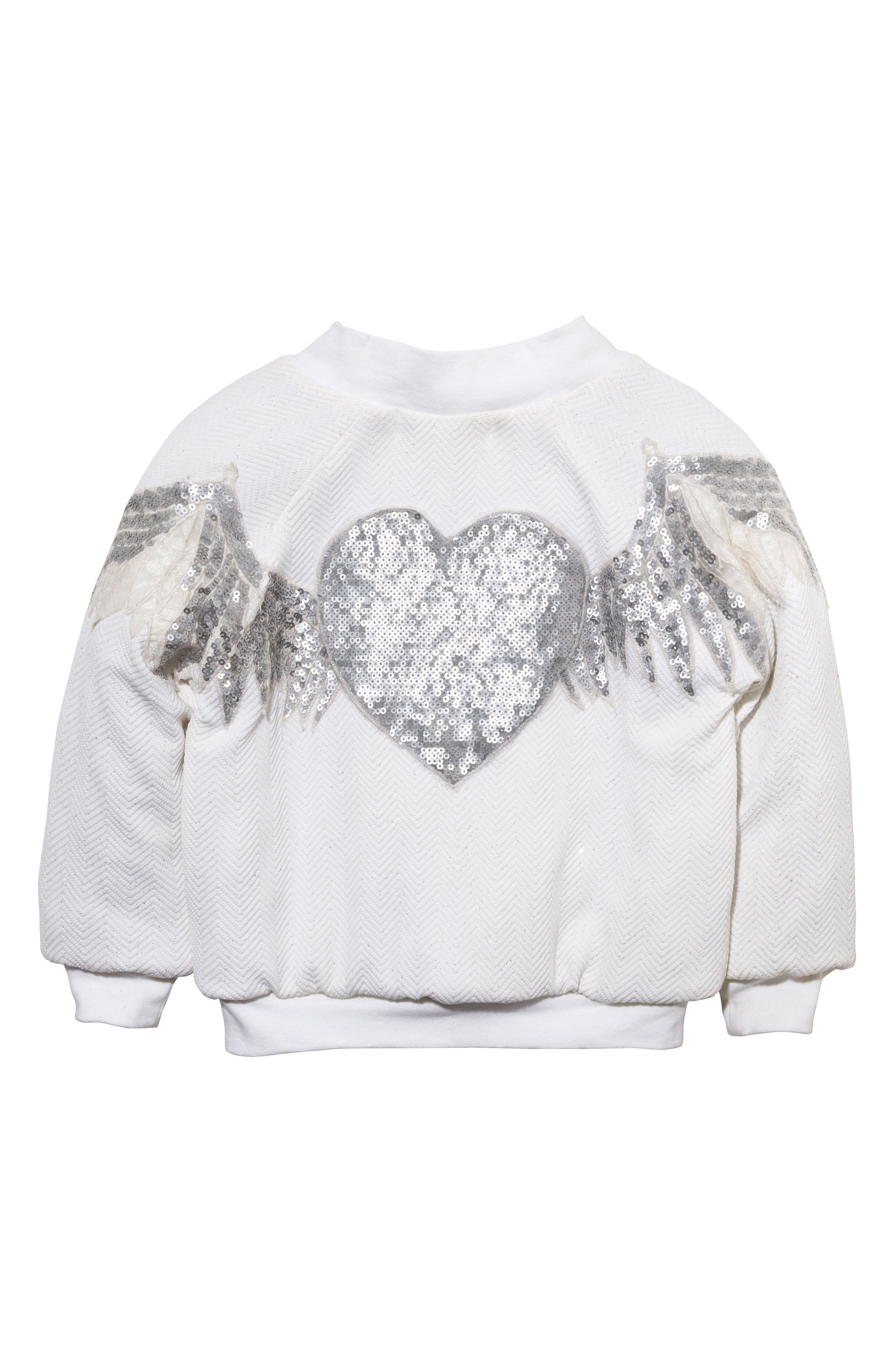 Wings Sequin Bomber Jacket,                         Main,                         color, 901