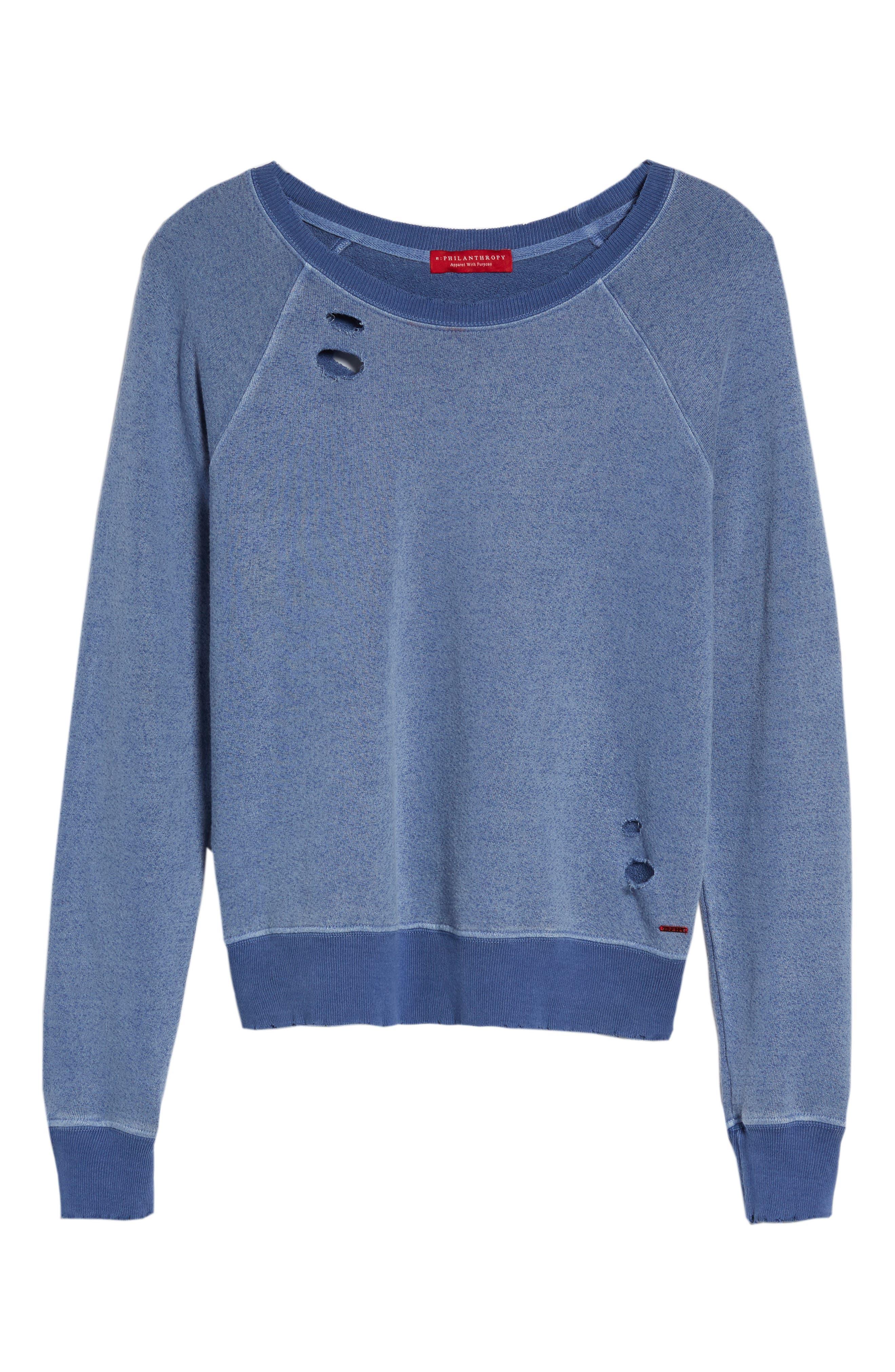 Belize Deconstructed Sweatshirt,                             Alternate thumbnail 6, color,                             COBALT