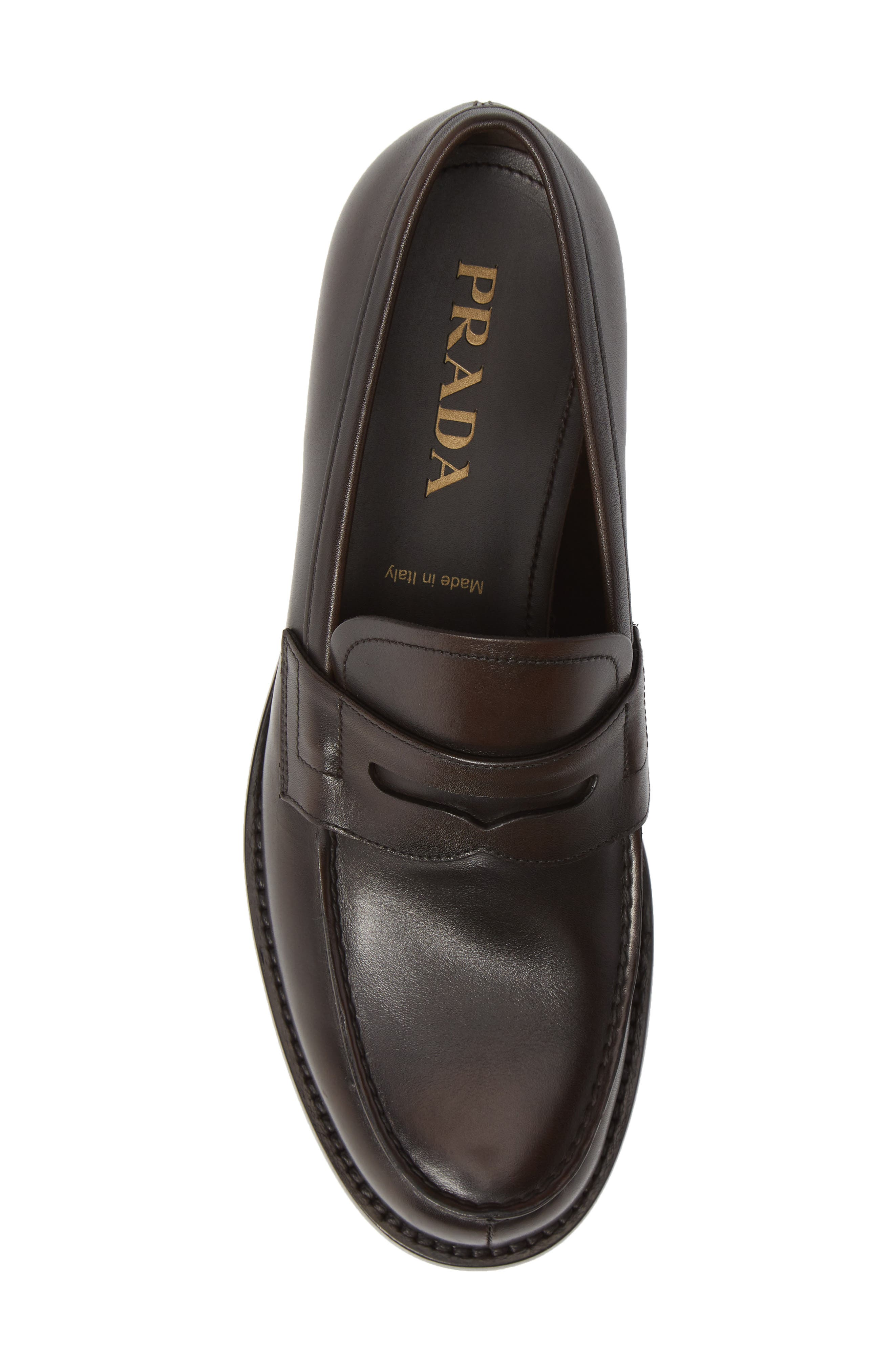 Penny Loafer,                             Alternate thumbnail 5, color,                             MORO BROWN