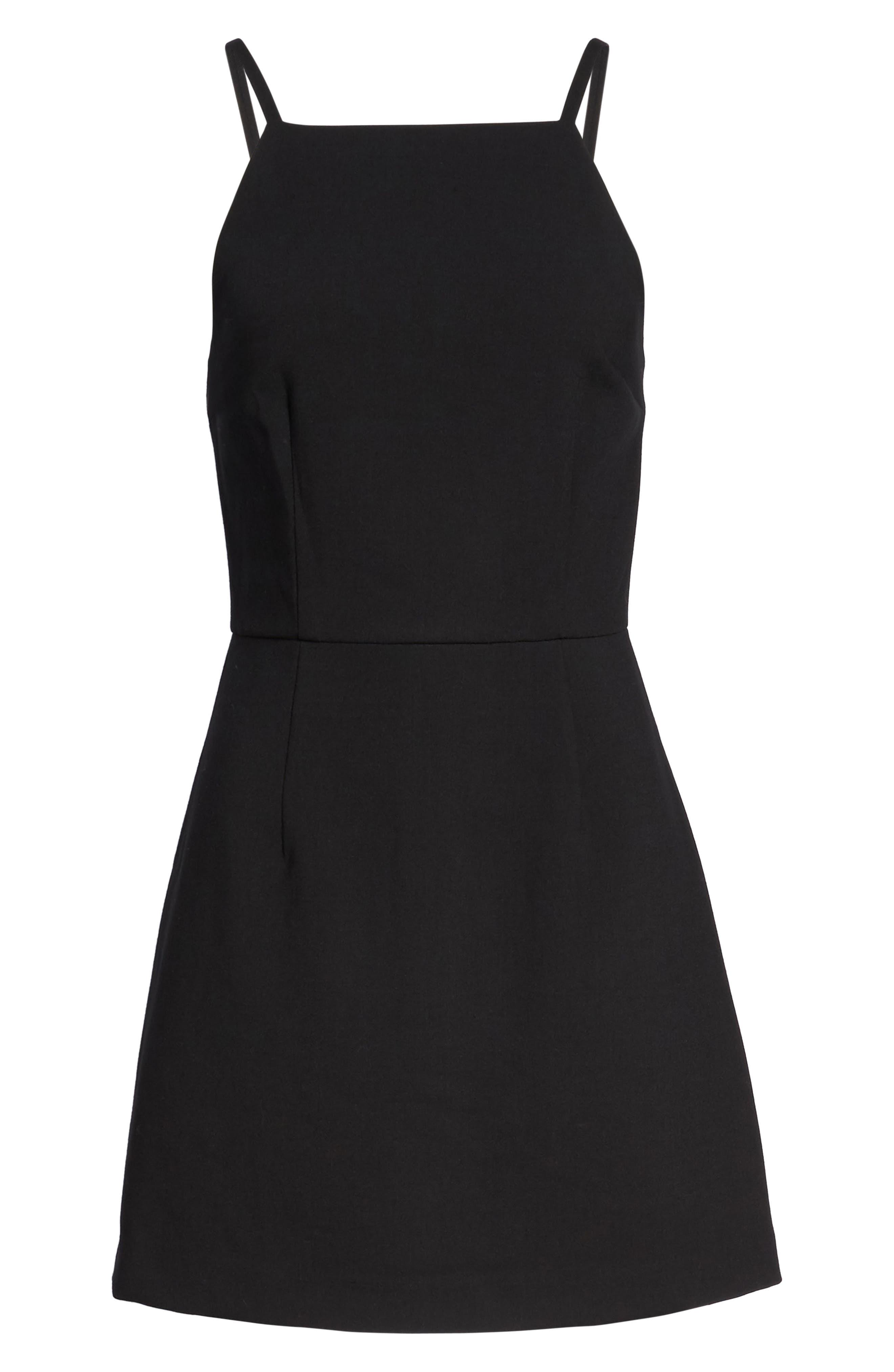 Whisper Light Sheath Dress,                             Alternate thumbnail 7, color,                             BLACK