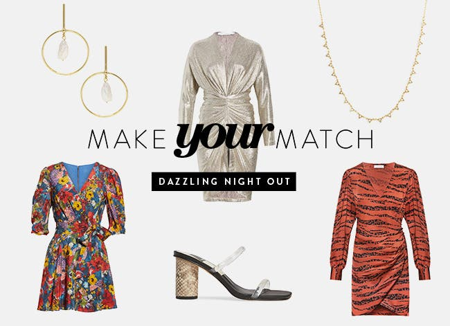 Make your match: night-out outfit inspiration.