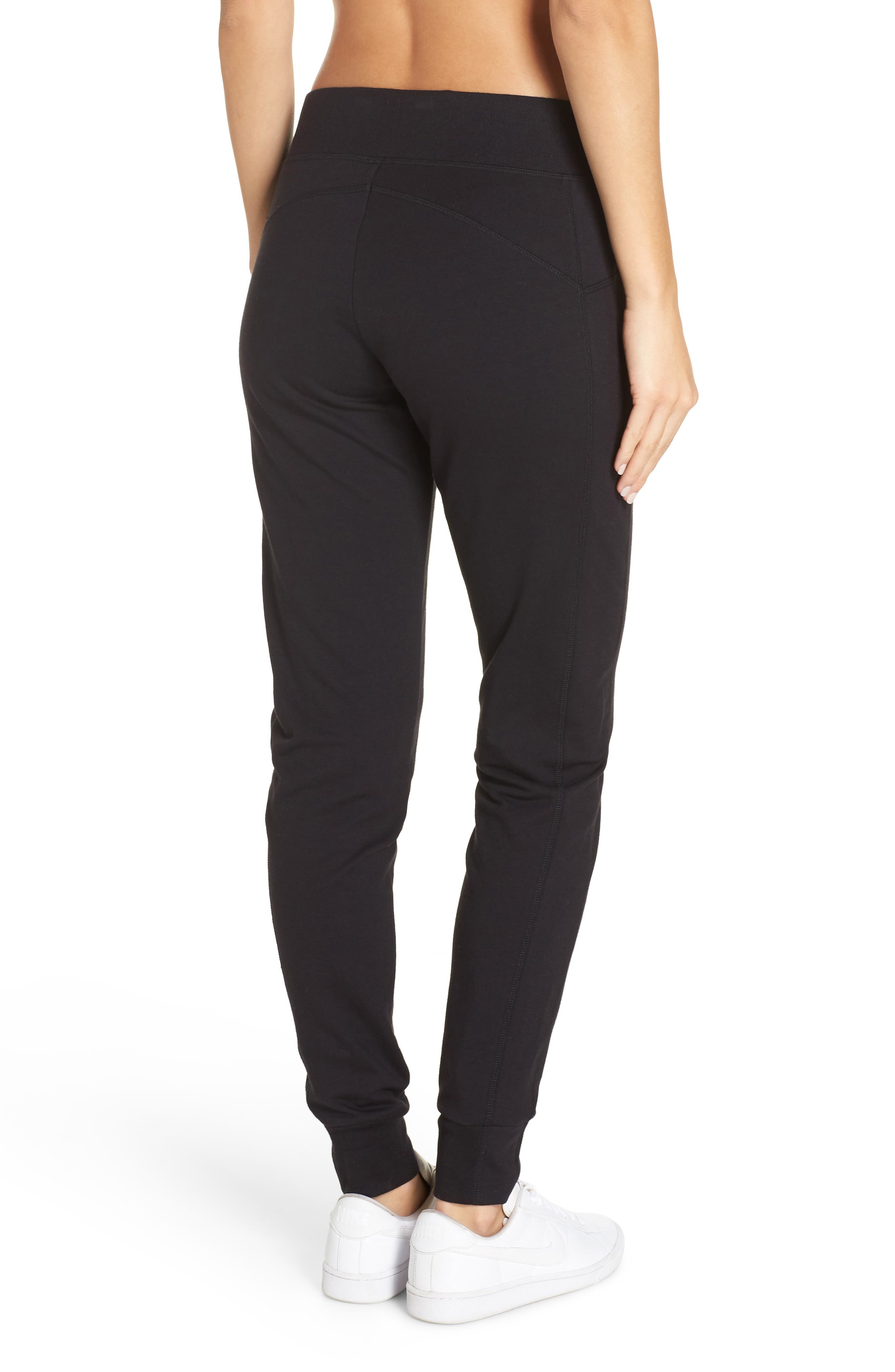 Taryn Luxe Jogger Pants,                             Alternate thumbnail 2, color,                             BLACK