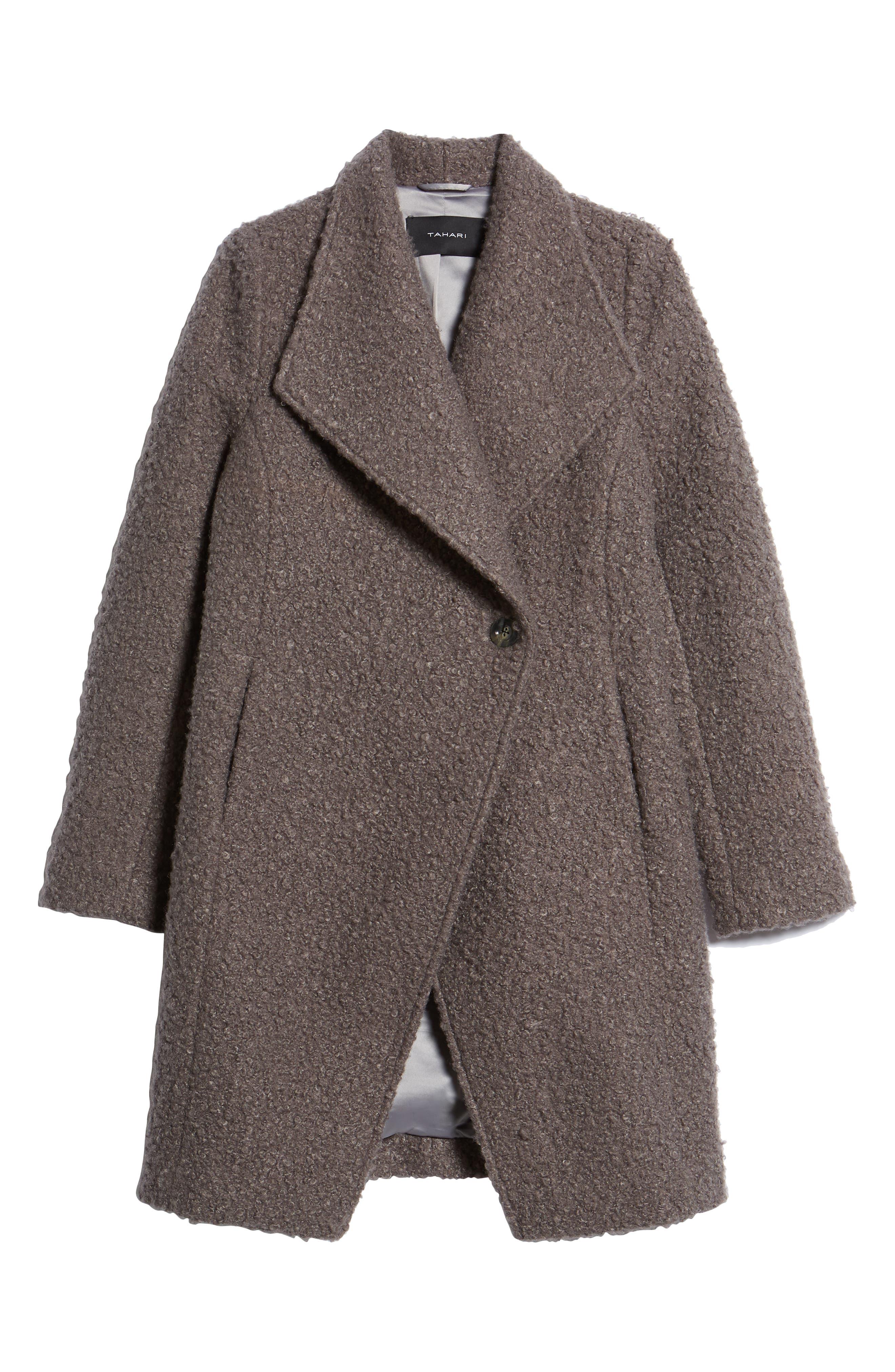 Sheila Bouclé Knit Coat,                             Alternate thumbnail 5, color,                             087