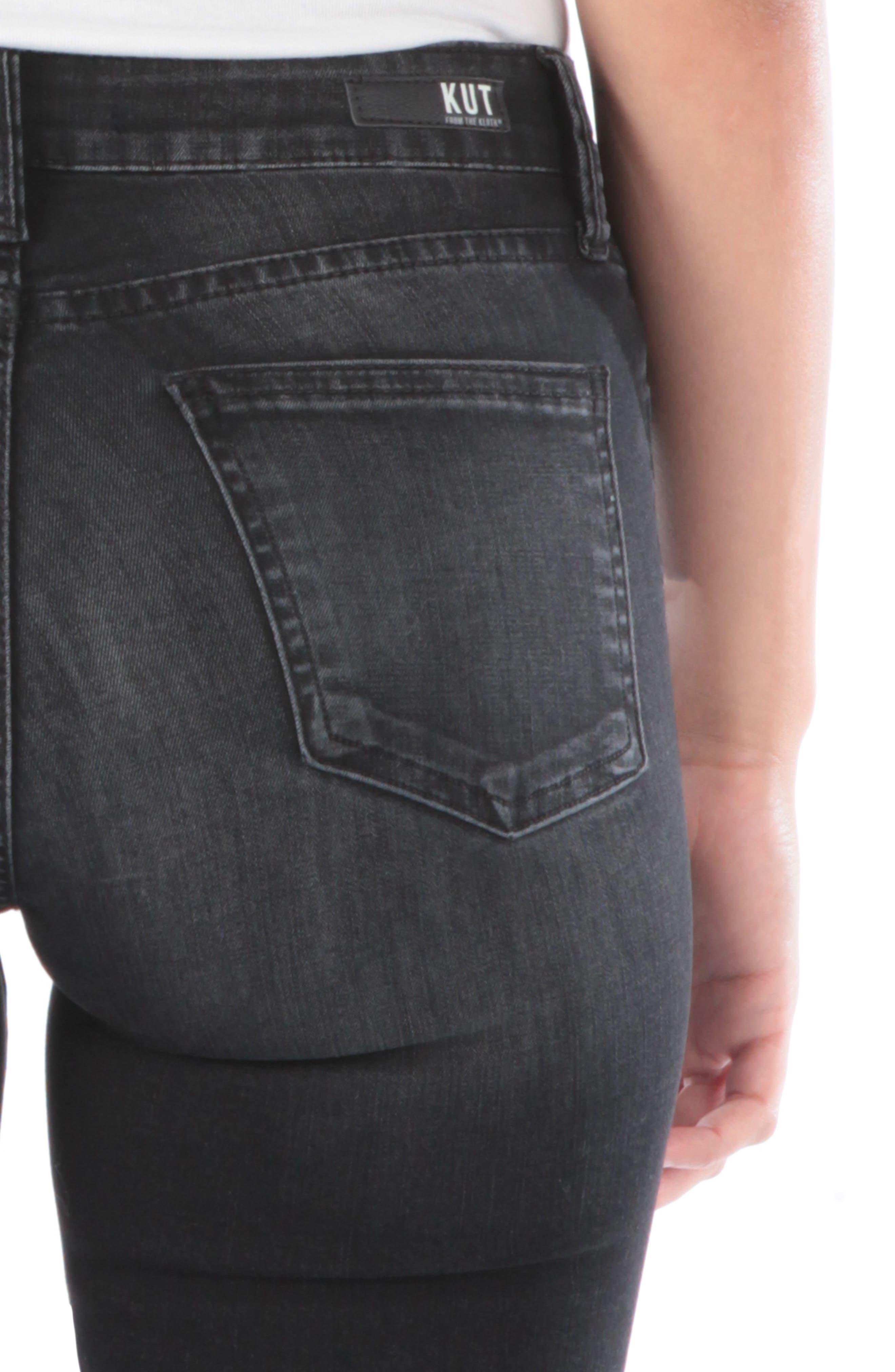 Mia High Waist Skinny Jeans,                             Alternate thumbnail 4, color,                             007
