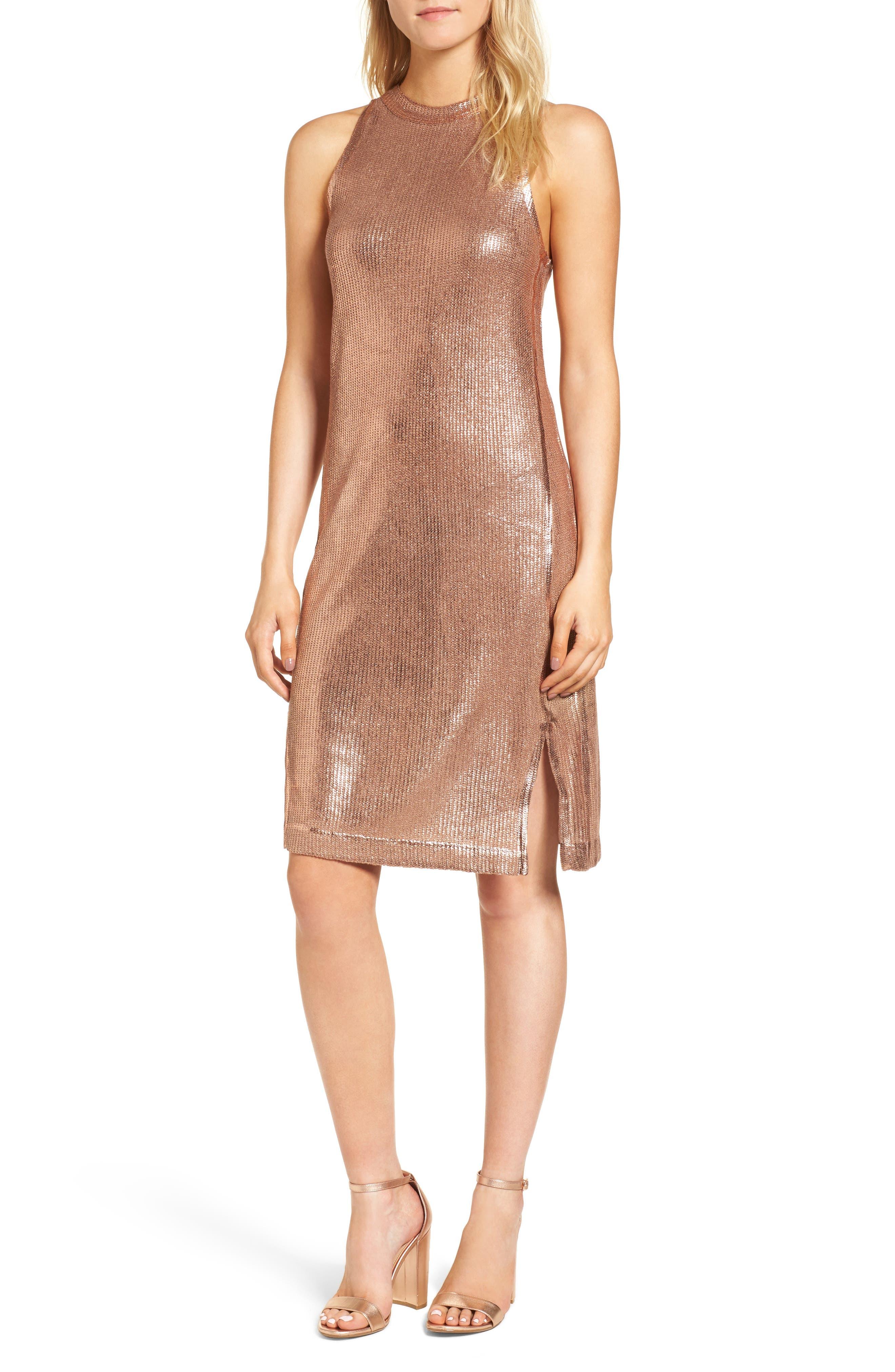 Metallic Coated Dress,                             Main thumbnail 2, color,