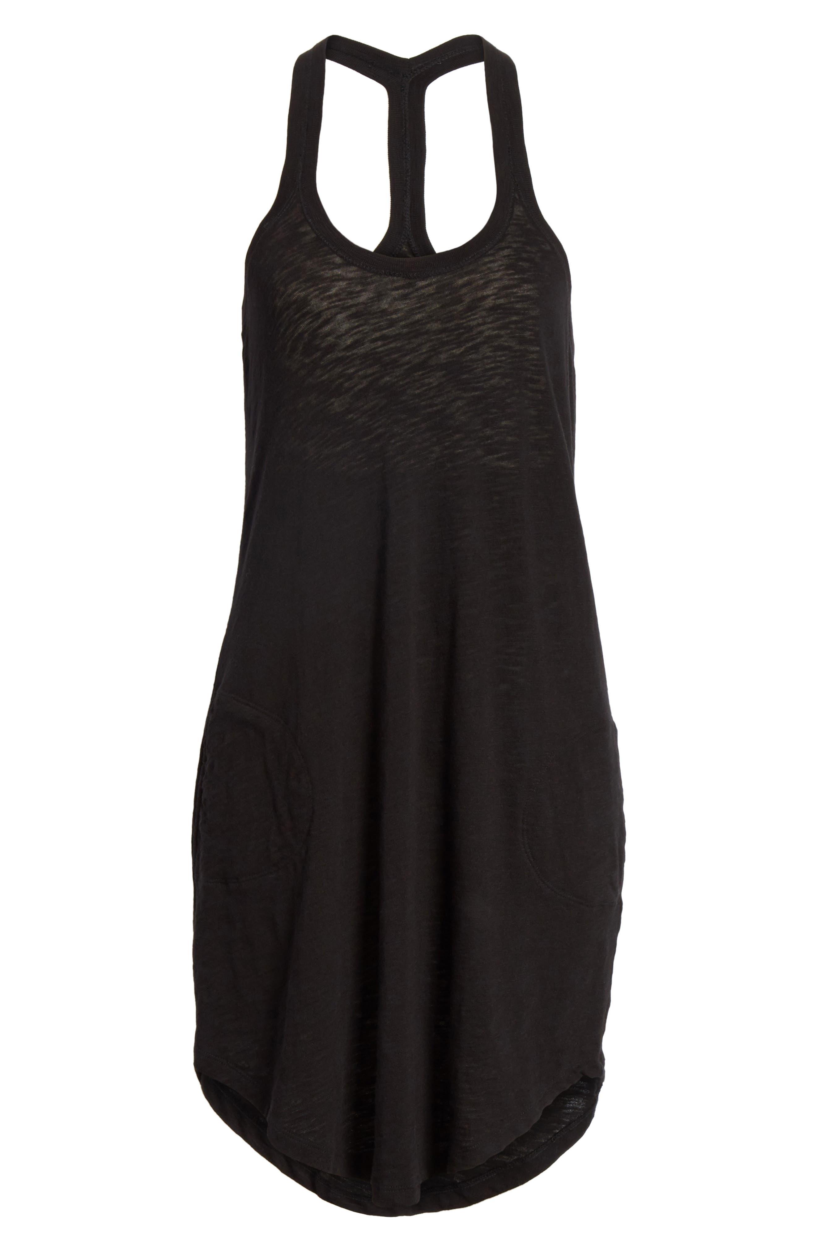 ATM ANTHONY THOMAS MELILLO,                             Cotton Trapeze Tank Dress,                             Alternate thumbnail 6, color,                             001
