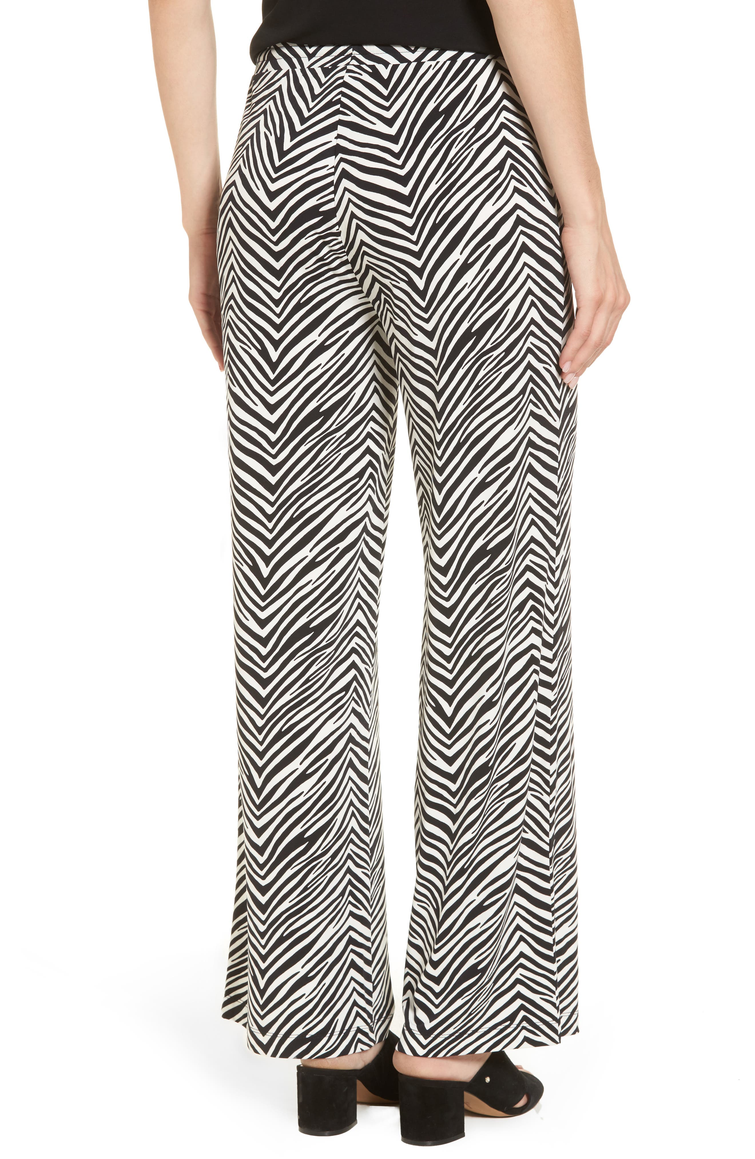 Zebra Print Drawstring Waist Pants,                             Alternate thumbnail 2, color,                             010