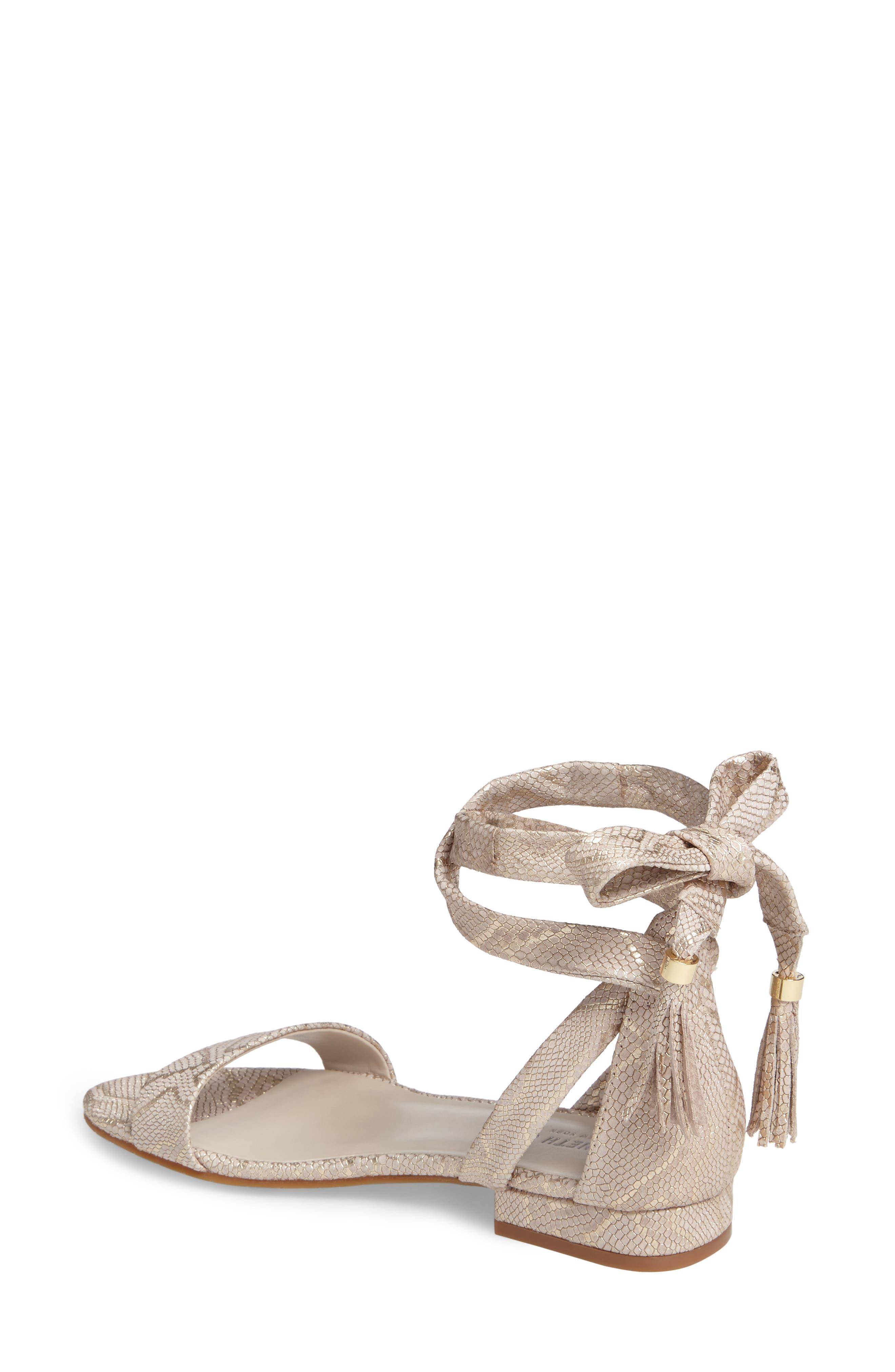 Valen Tassel Lace-Up Sandal,                             Alternate thumbnail 18, color,