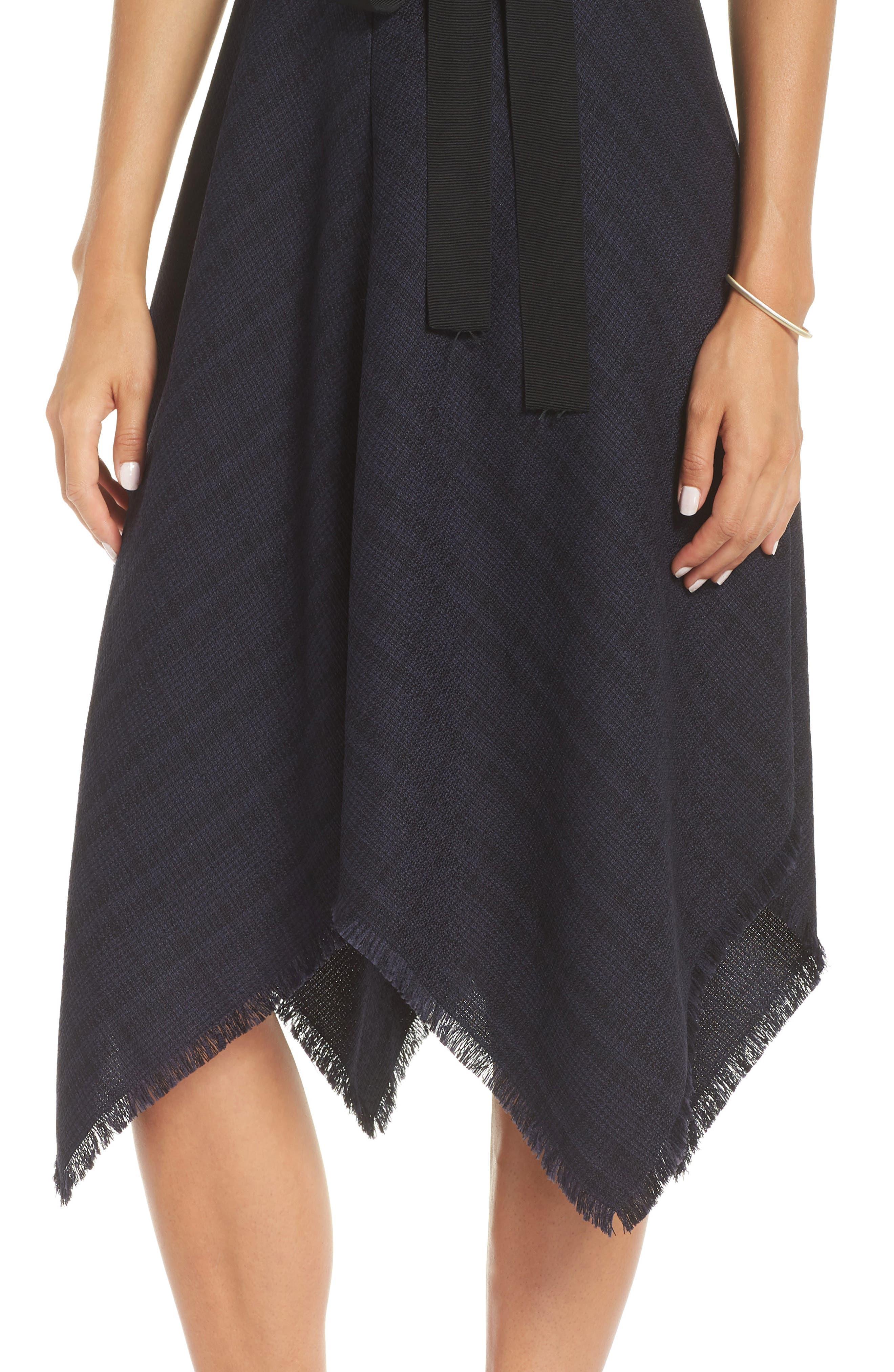 1901, Tie Waist Tweed Midi Dress, Alternate thumbnail 5, color, 410