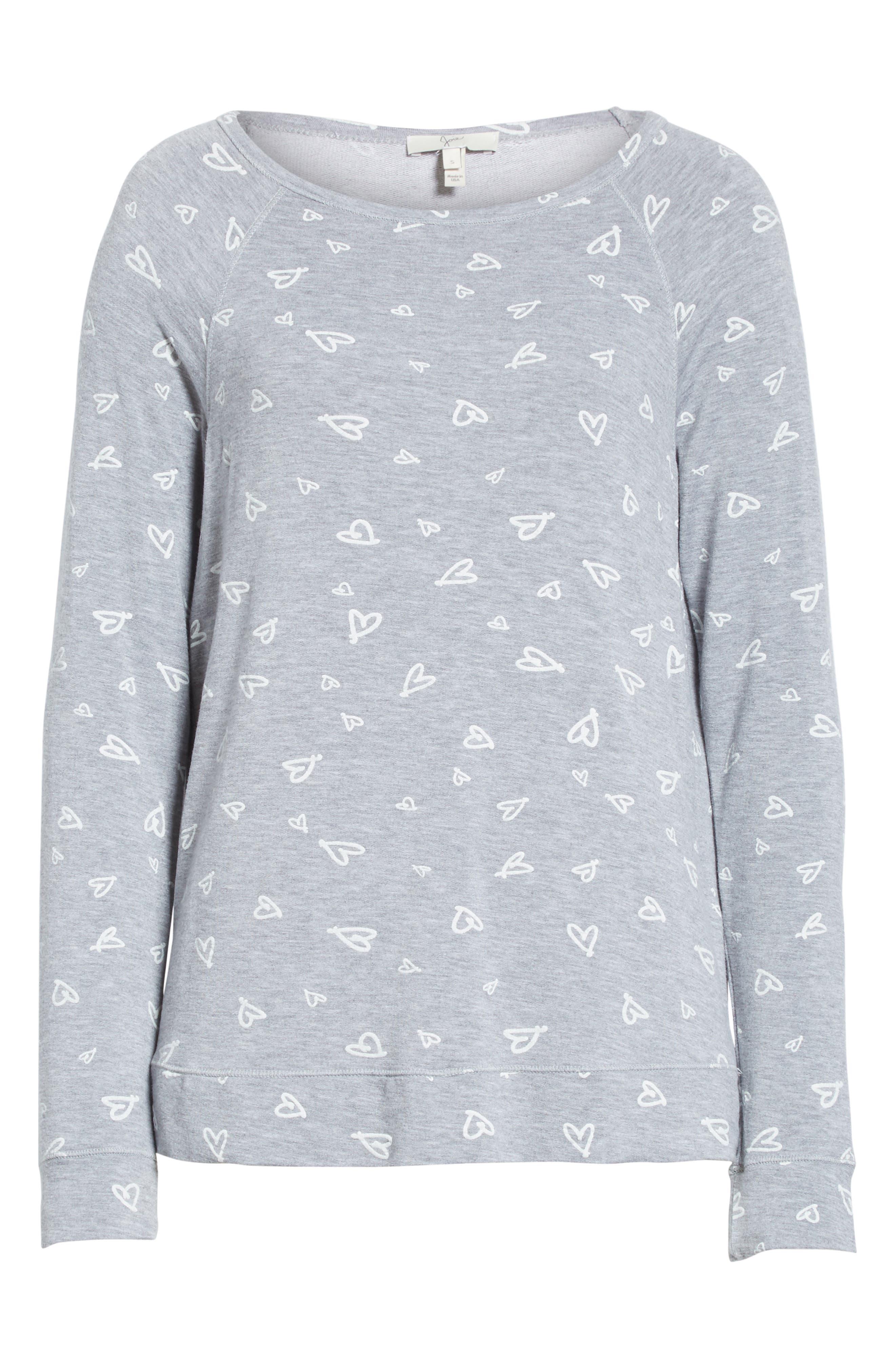Annora B Print Cotton & Modal Blend Sweatshirt,                             Alternate thumbnail 6, color,                             071