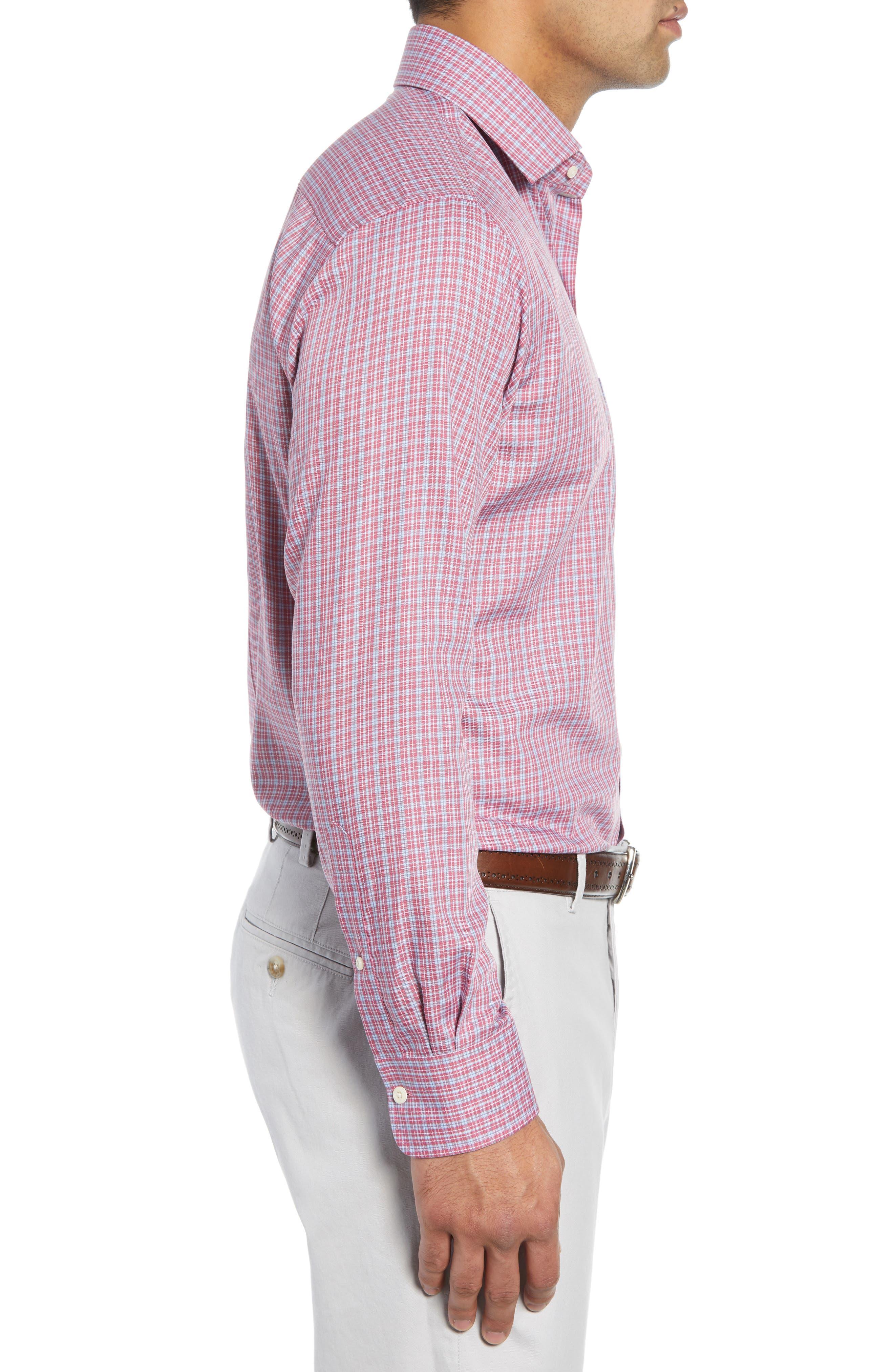 Province Regular Fit Check Sport Shirt,                             Alternate thumbnail 4, color,                             PINK