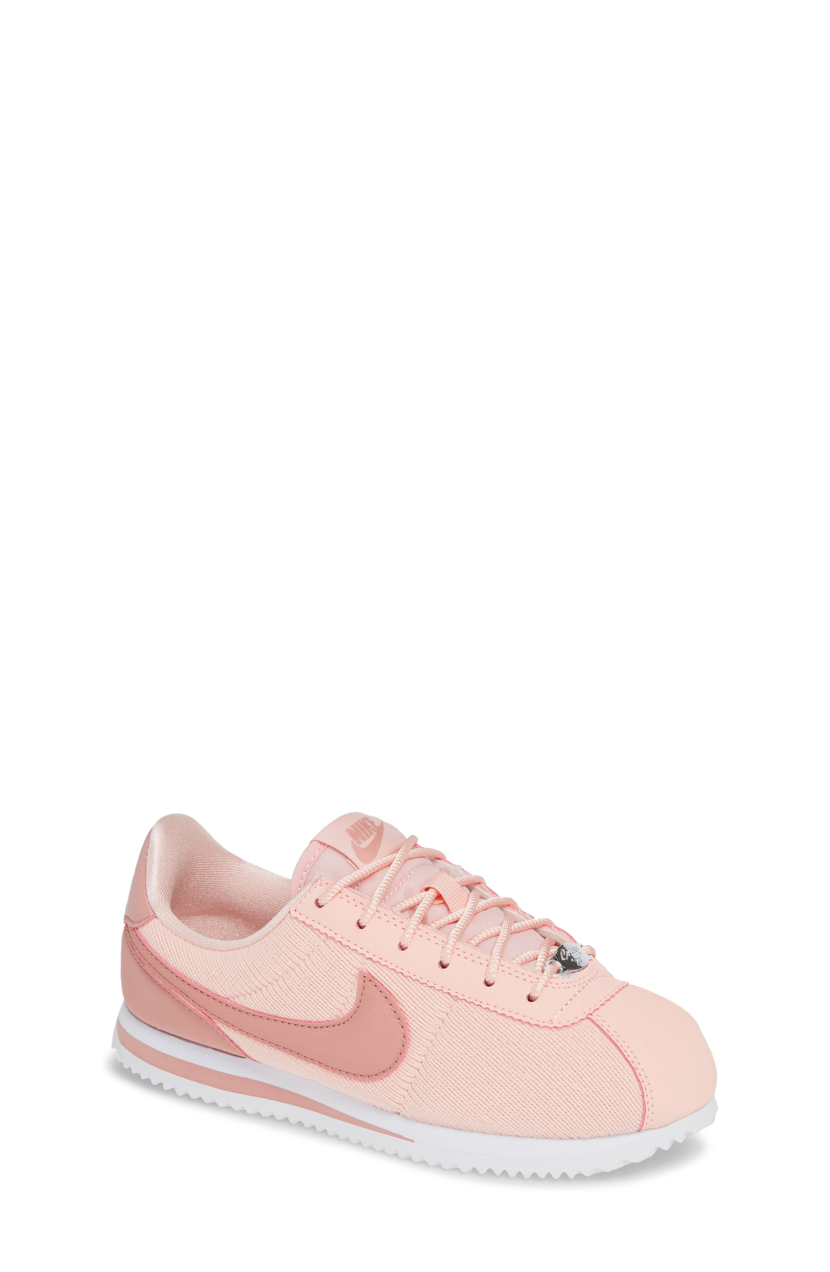 Cortez Basic TXT SE Sneaker,                         Main,                         color, STORM PINK/ RUST PINK/ WHITE