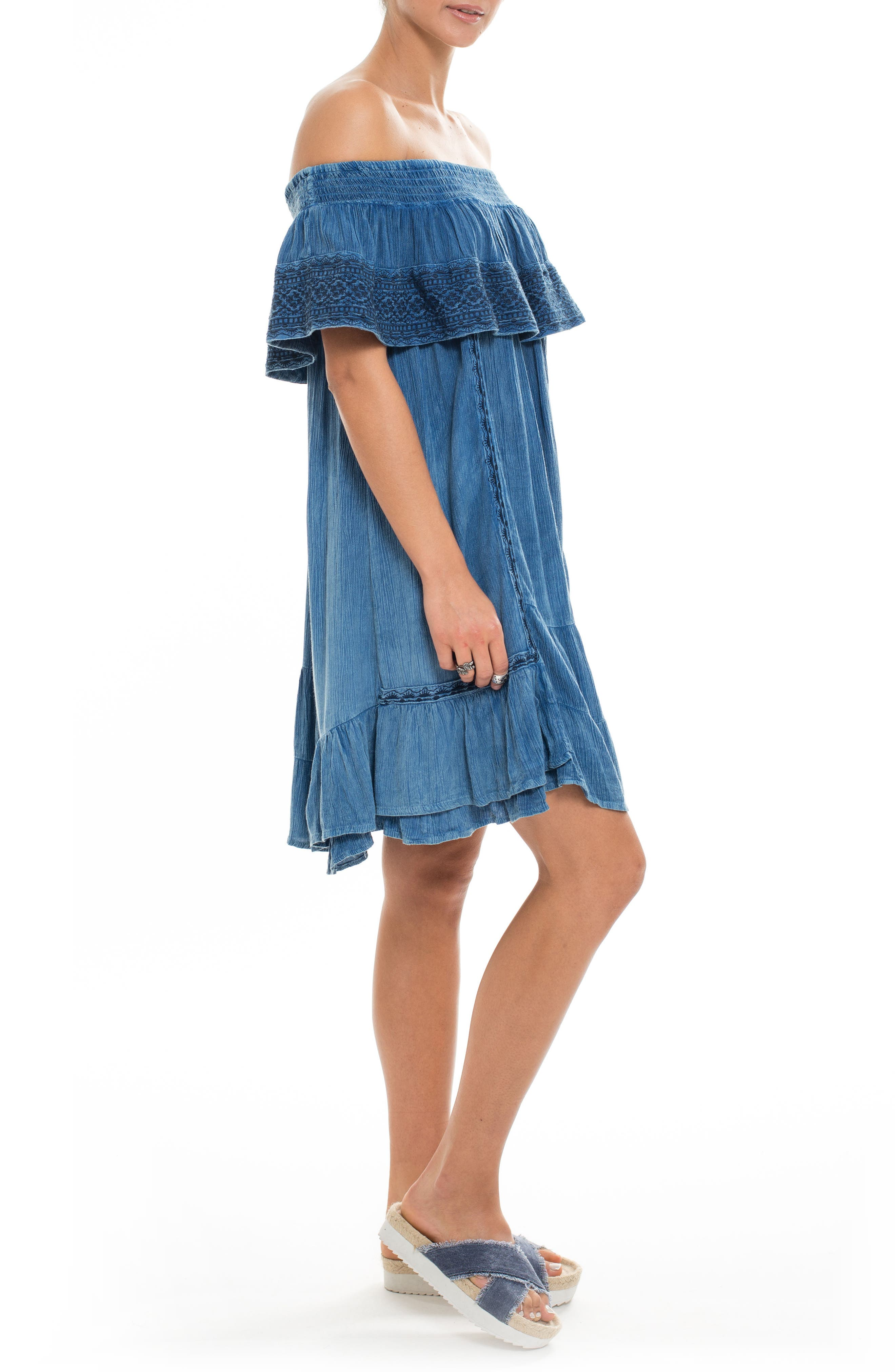 Gavin Ruffle Cover-Up Dress,                             Alternate thumbnail 7, color,