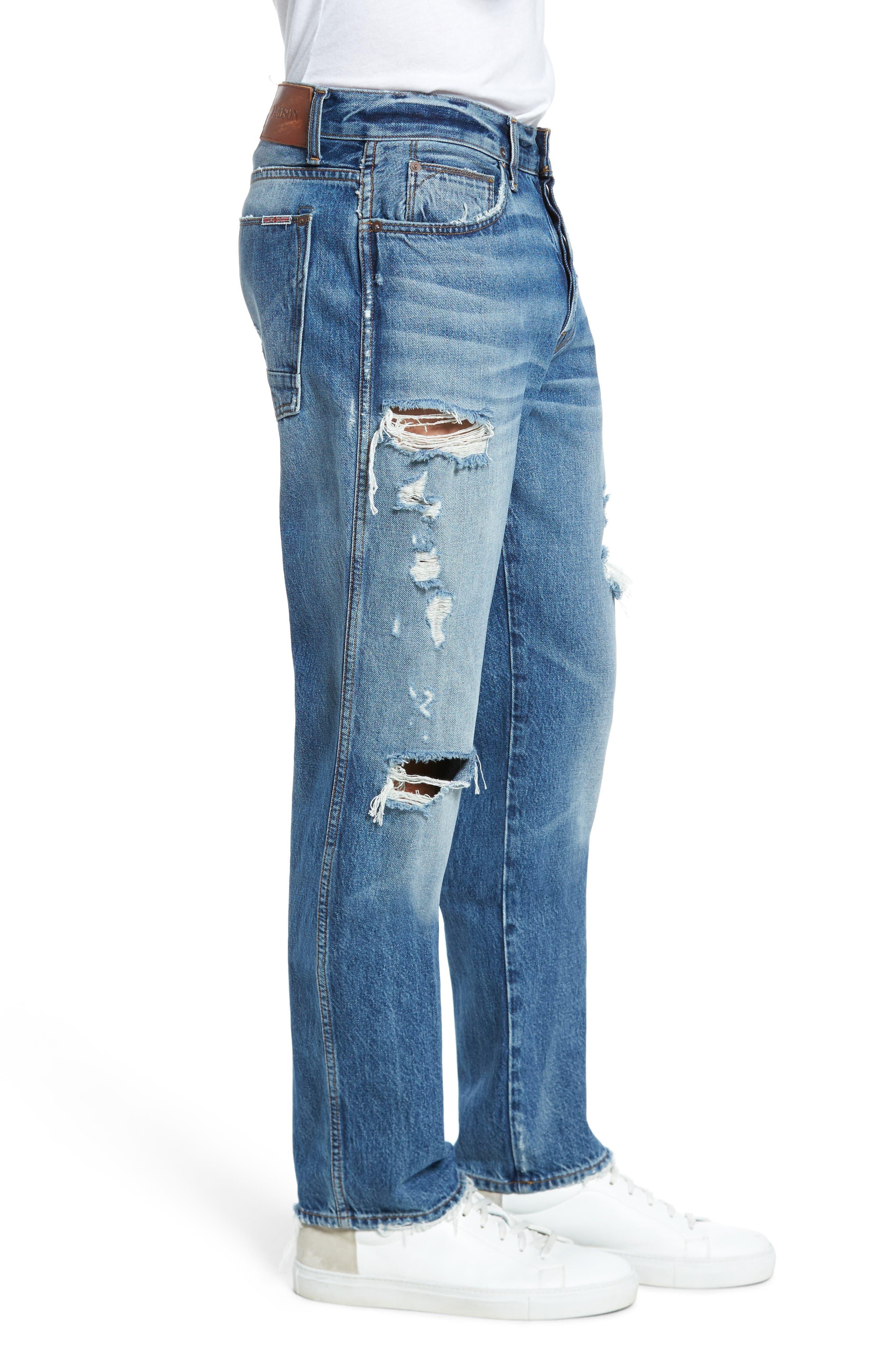 Dixon Straight Fit Jeans,                             Alternate thumbnail 3, color,                             450