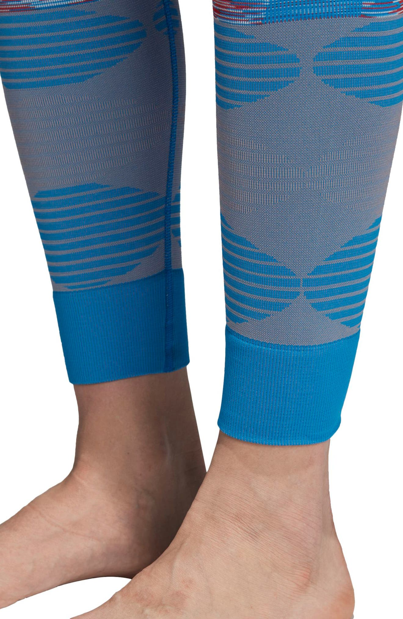 Yoga Seamless Space Dye Leggings,                             Alternate thumbnail 4, color,                             400