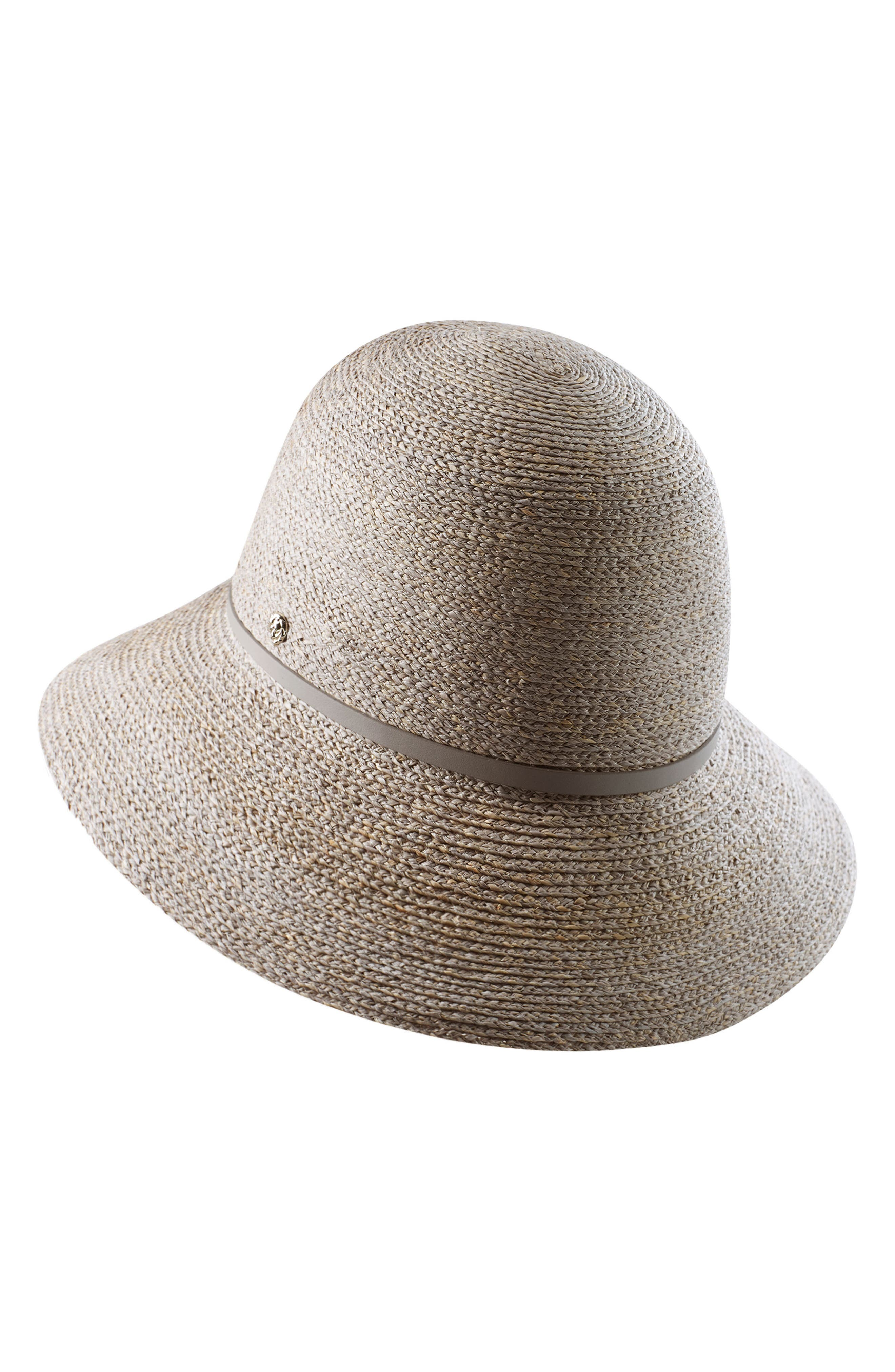 Packable Raffia Cloche Hat,                             Alternate thumbnail 5, color,