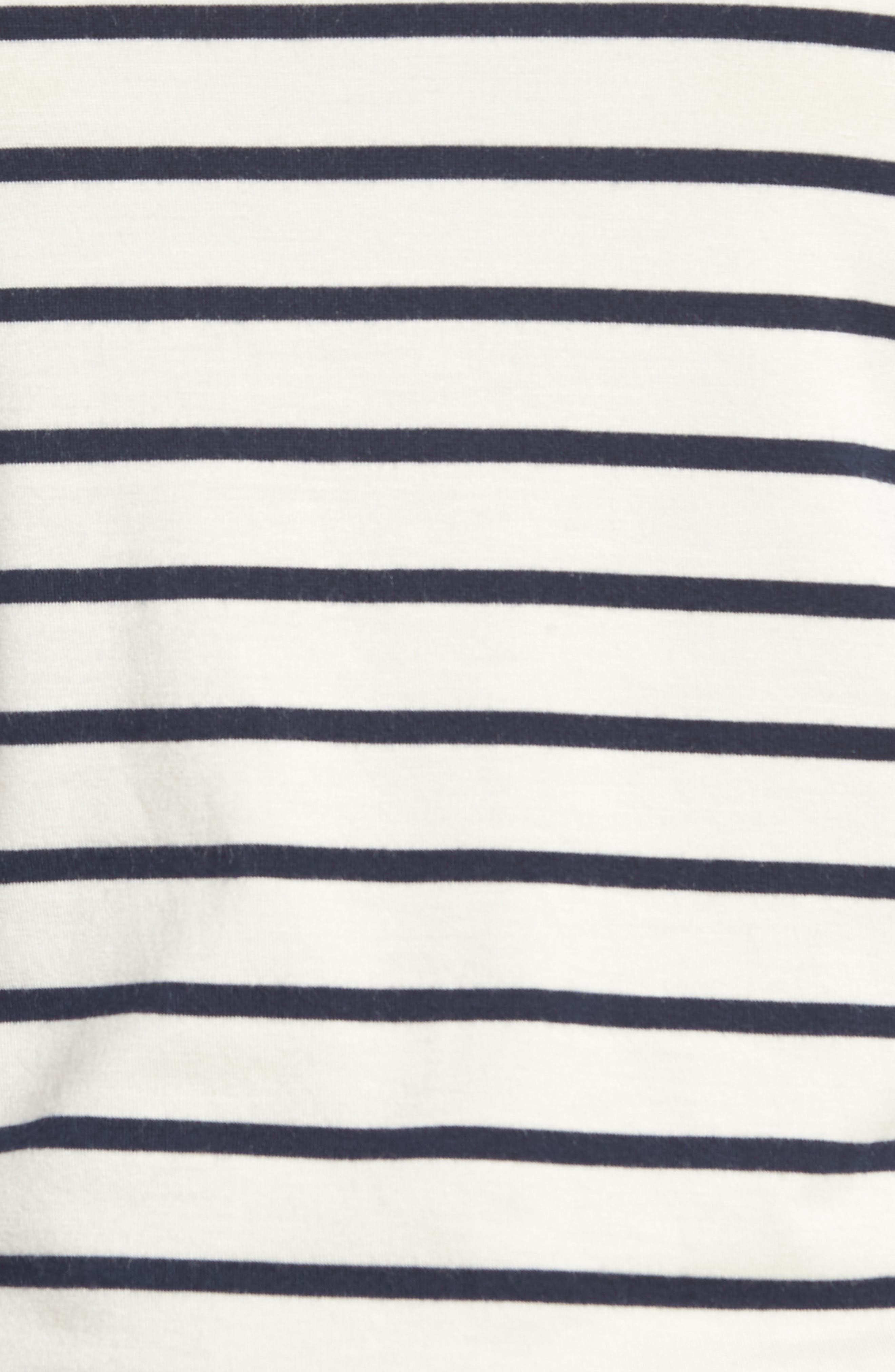 Francoise Stretch Jersey Top,                             Alternate thumbnail 5, color,                             MARINE STRIPE
