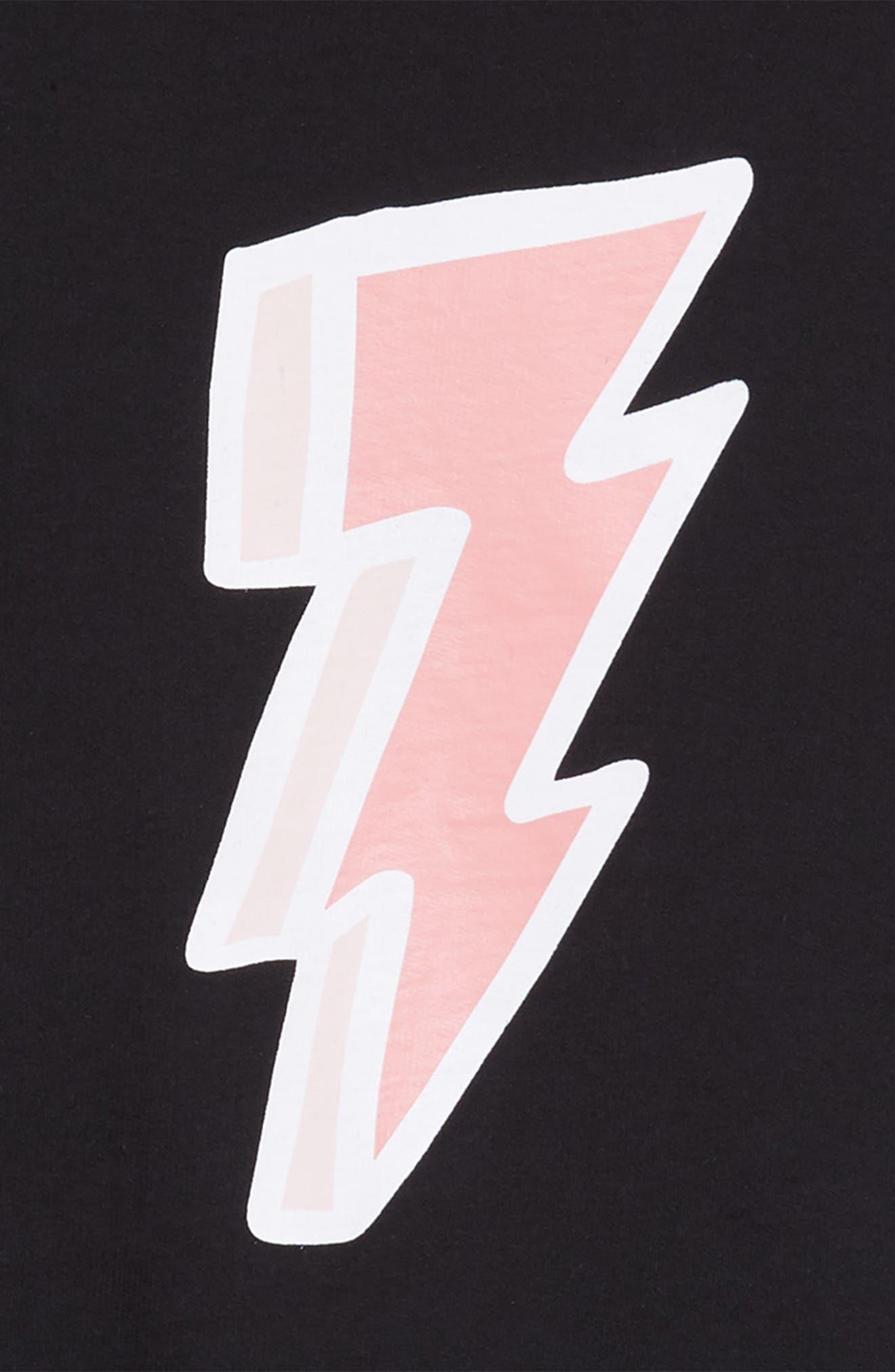 Lightning Bolt Graphic Dress,                             Alternate thumbnail 3, color,                             001