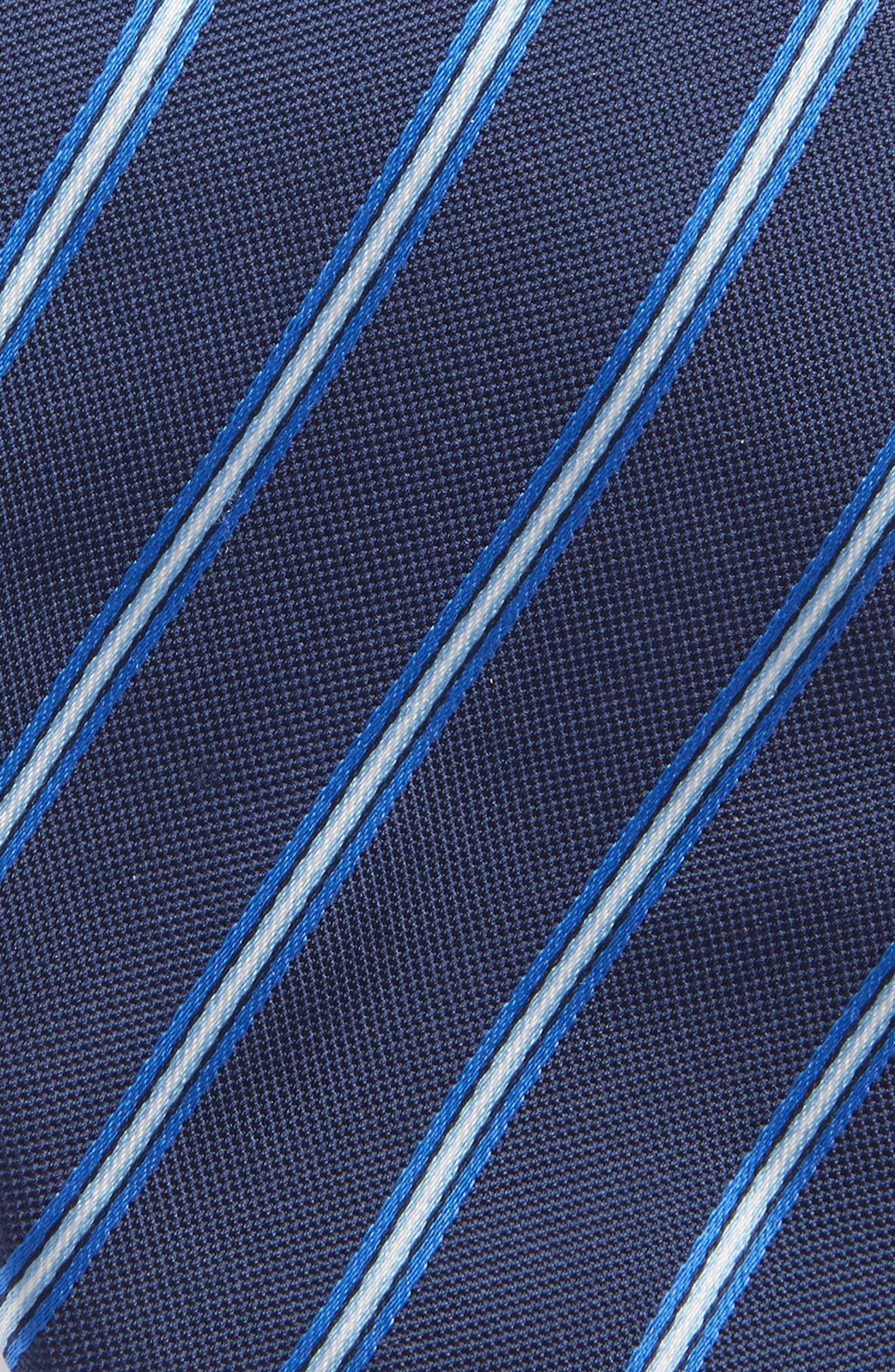 Stripe Silk Tie,                             Alternate thumbnail 2, color,                             OPEN BLUE